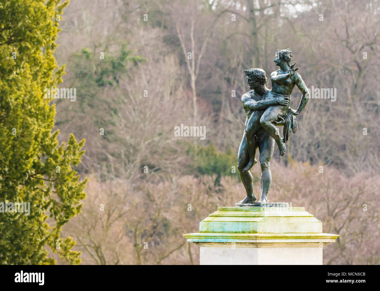 Bronze statue at Cliveden House, Buckinghamshire, UK - Stock Image