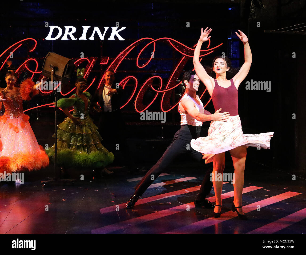 Jonny Labey, Zizi Strallen, Strictly Ballroom The Musical - Photo call, Piccadilly Theatre, London UK, 17 April 2018, Photo by Richard Goldschmidt - Stock Image