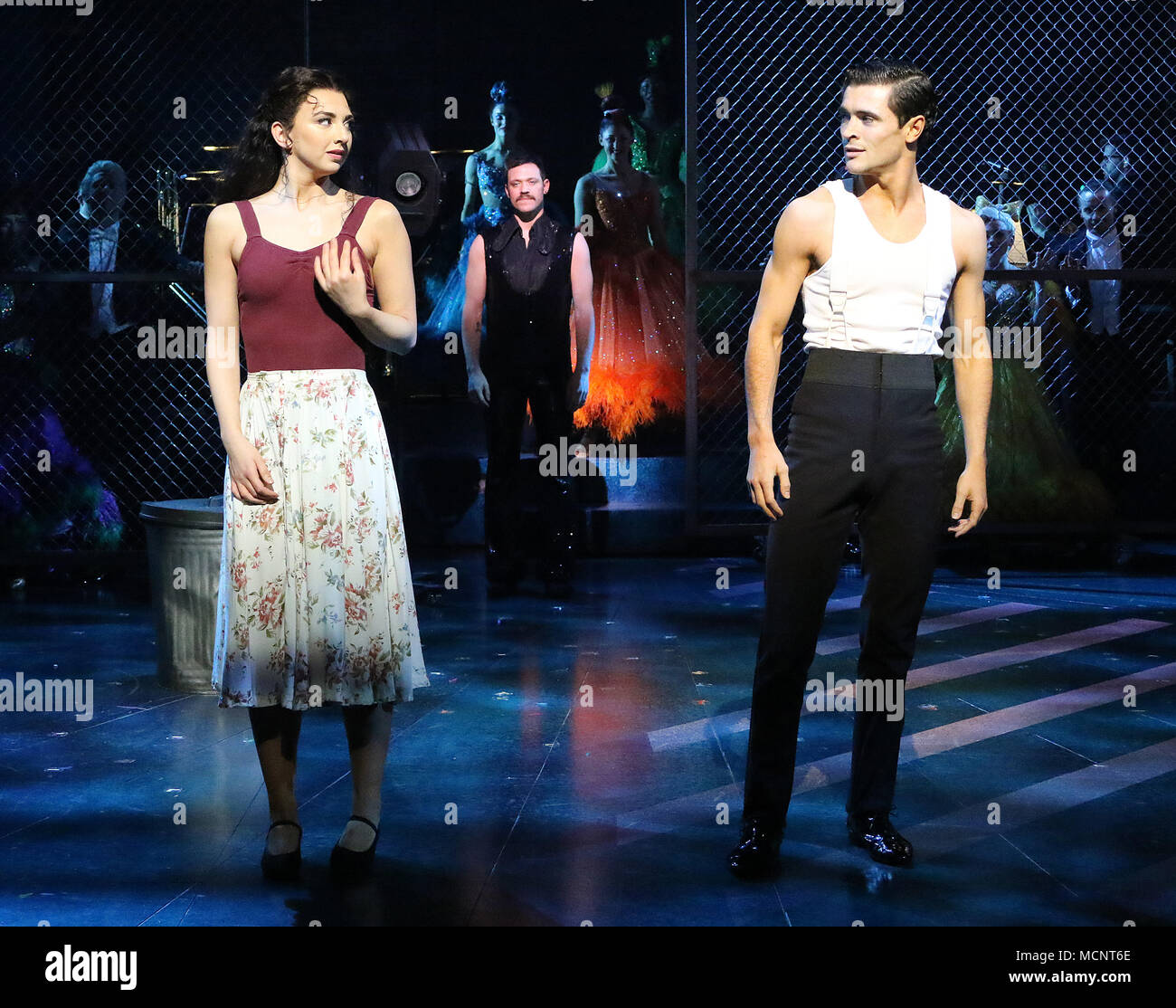 Jonny Labey, Zizi Strallen, Will Young, Strictly Ballroom The Musical - Photo call, Piccadilly Theatre, London UK, 17 April 2018, Photo by Richard Goldschmidt - Stock Image