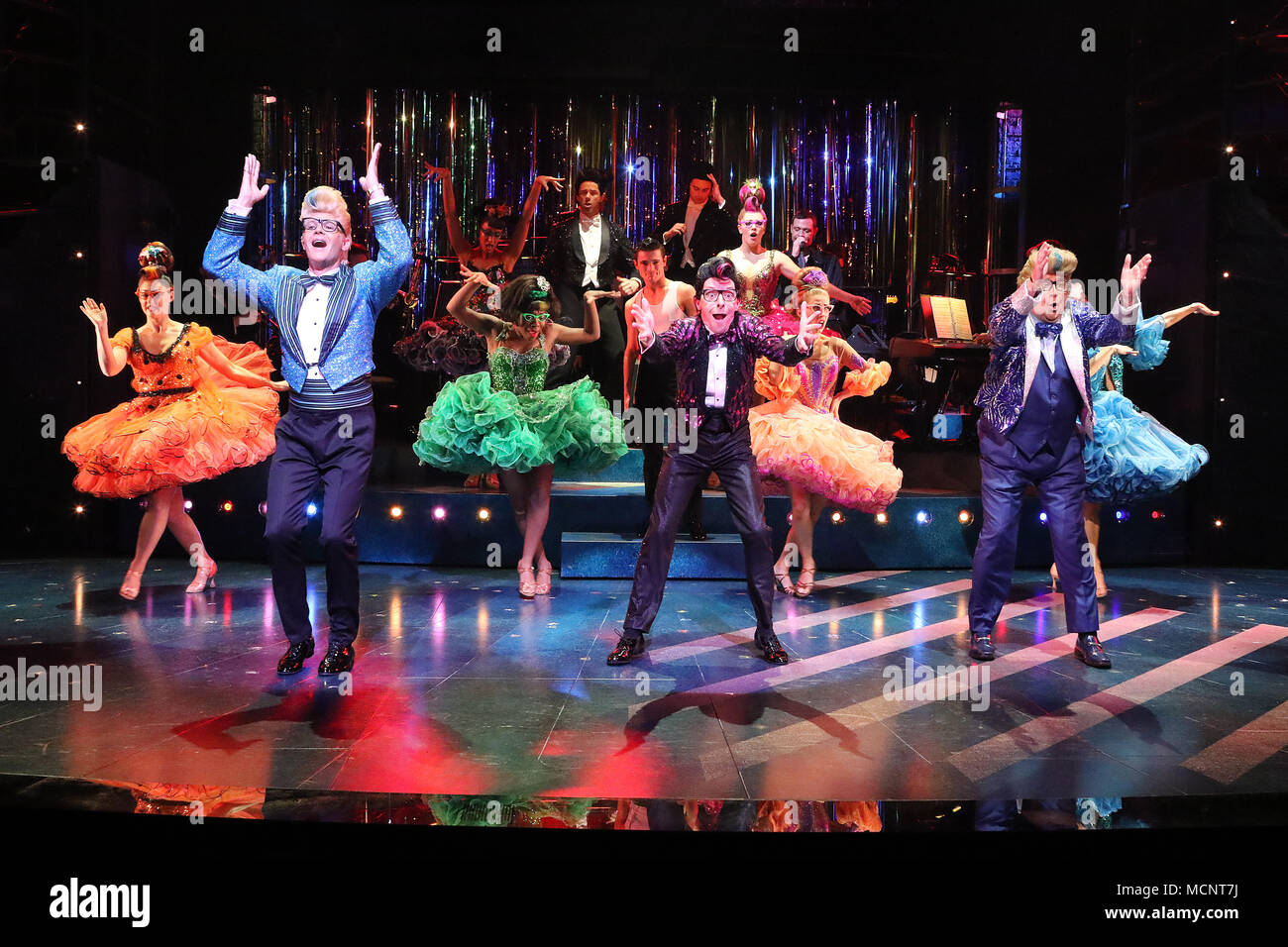 Strictly Ballroom The Musical - Photo call, Piccadilly Theatre, London UK, 17 April 2018, Photo by Richard Goldschmidt - Stock Image