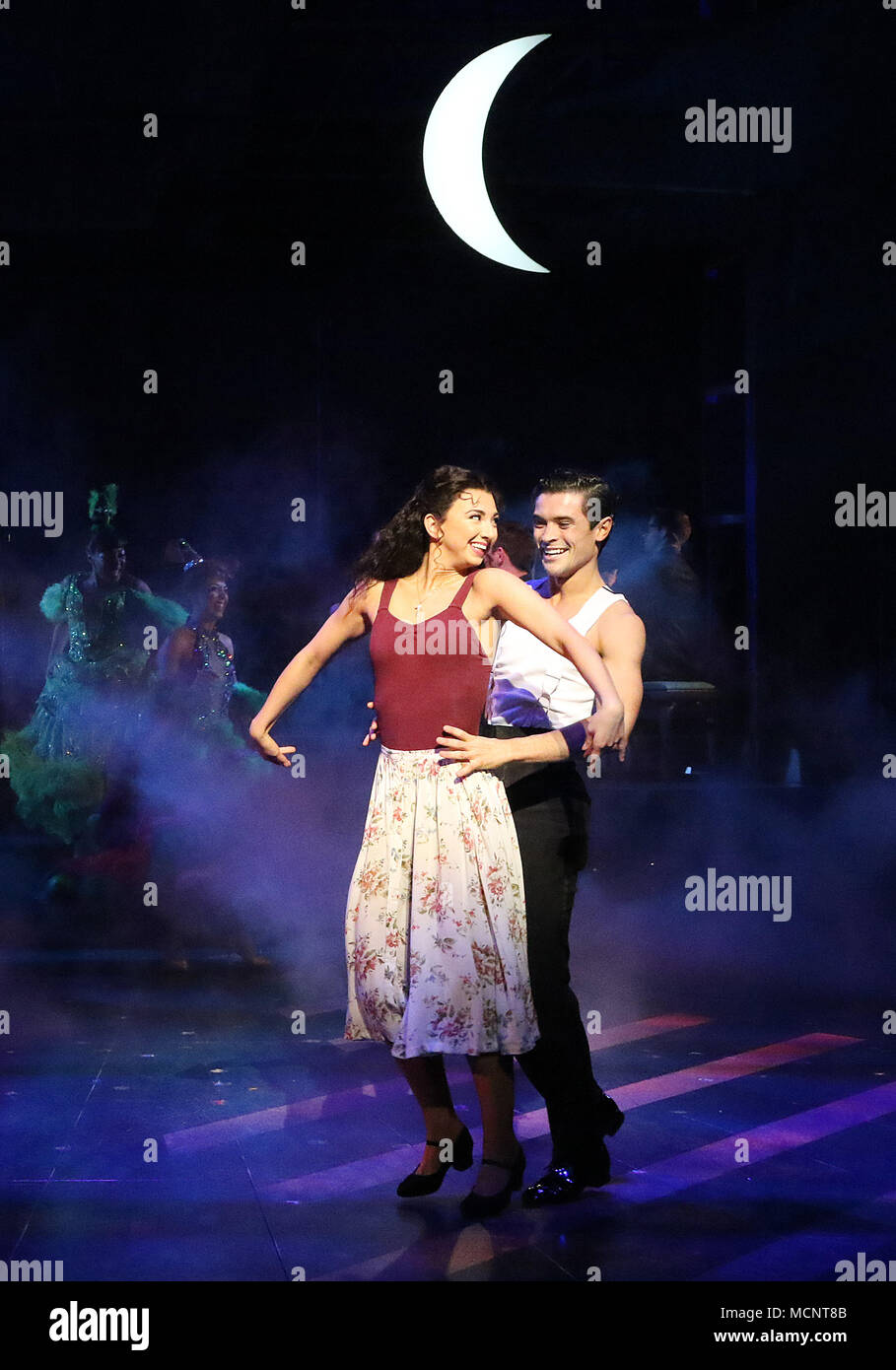 Zizi Strallen, Jonny Labey, Strictly Ballroom The Musical - Photo call, Piccadilly Theatre, London UK, 17 April 2018, Photo by Richard Goldschmidt - Stock Image