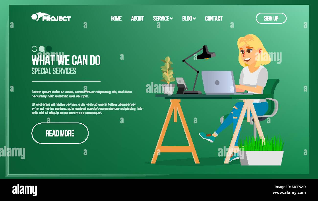 Website Page Vector Business Agency Network Connection Cartoon Diagram Person Digital Developer Illustration