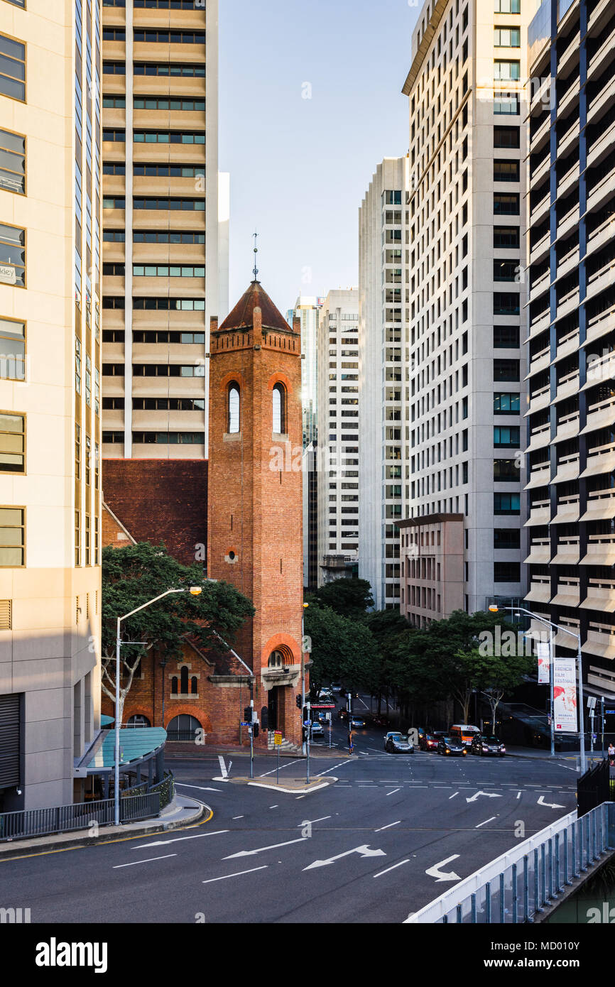 Brisbane, QLD, Australia - March 17, 2018 - Saint Andrew's Uniting Church in downtown Brisbane - Stock Image