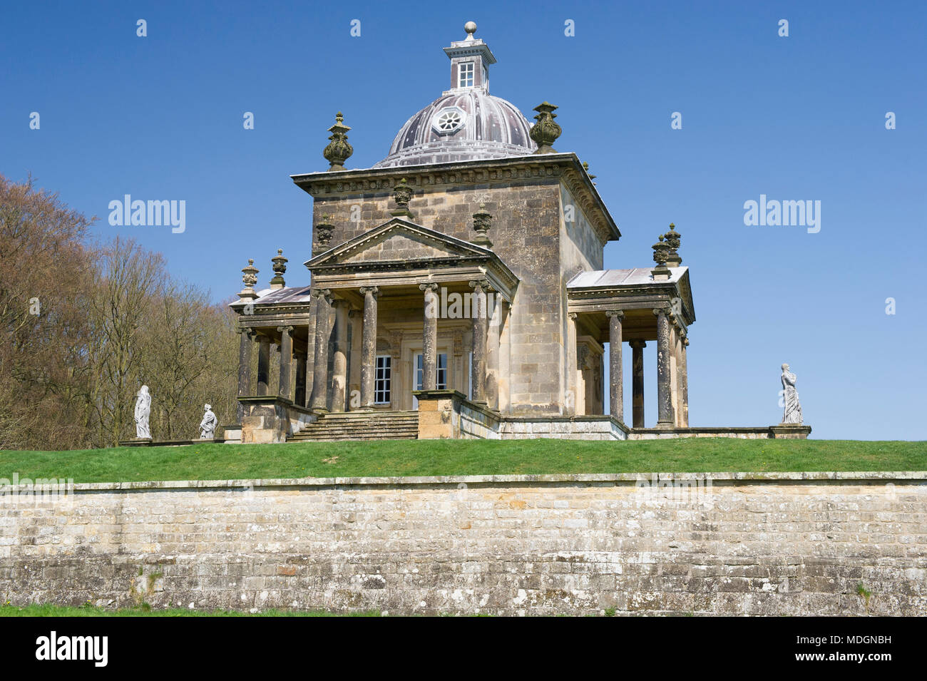 The Temple Of The Four Winds in the grounds of Castle Howard in North Yorkshire - Stock Image