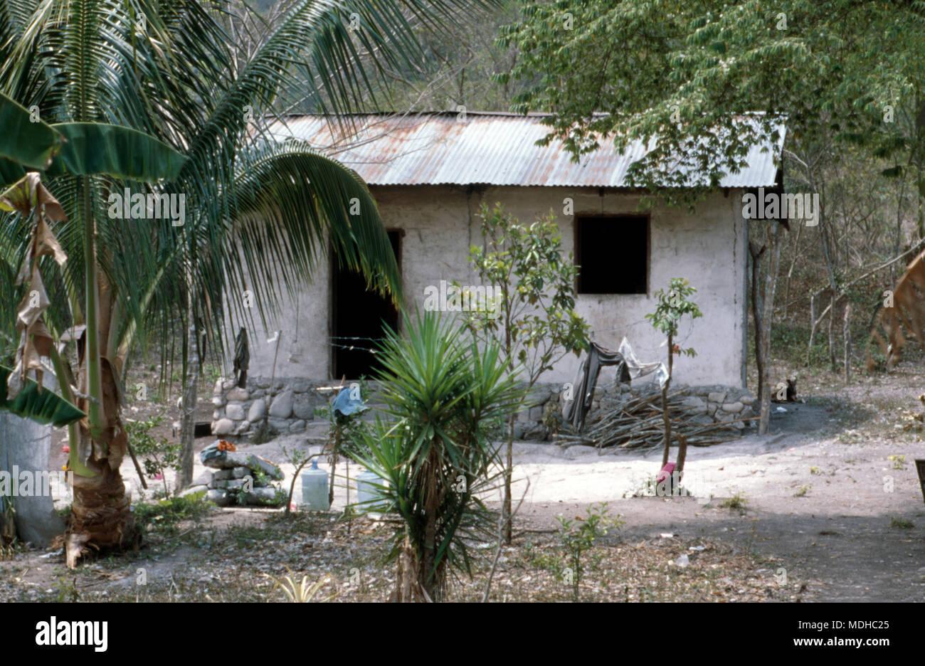 "A ""modern"" Chortí indigenous Mayan house in western Honduras. Stock Photo"