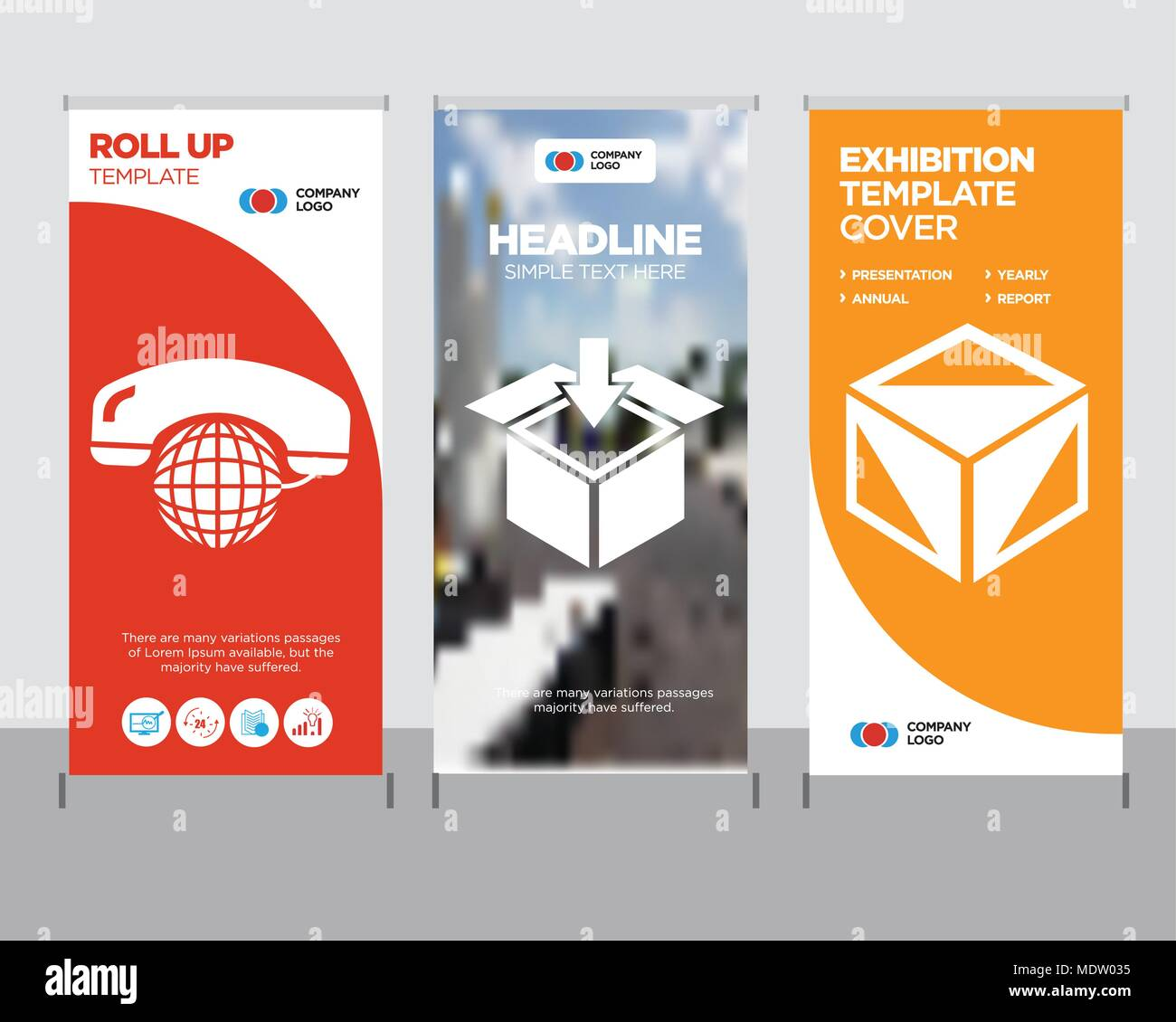 package cube box for delivery modern business roll up banner design
