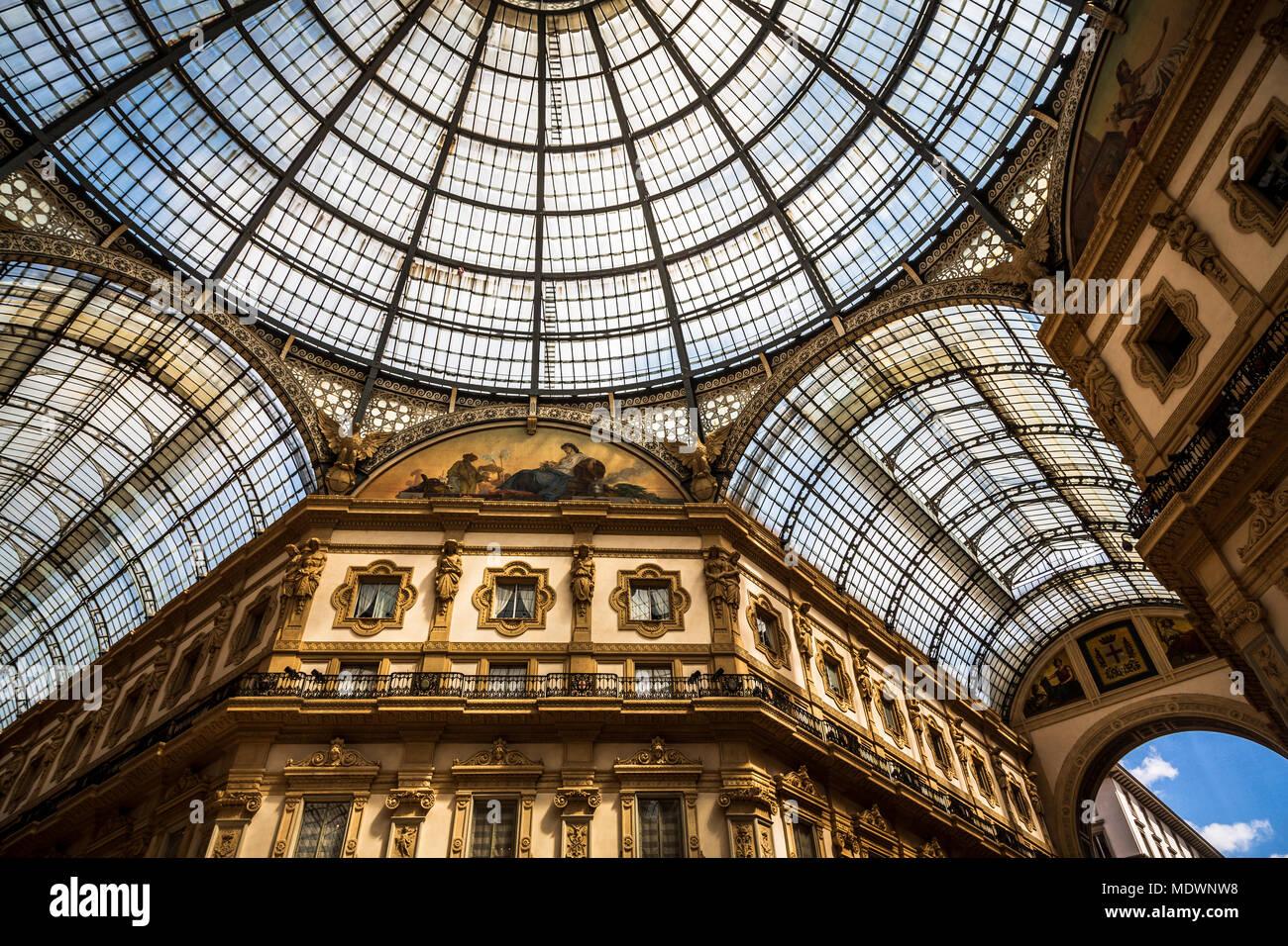 Milano, Italy, Galleria Vittorio Emanuele - Stock Image