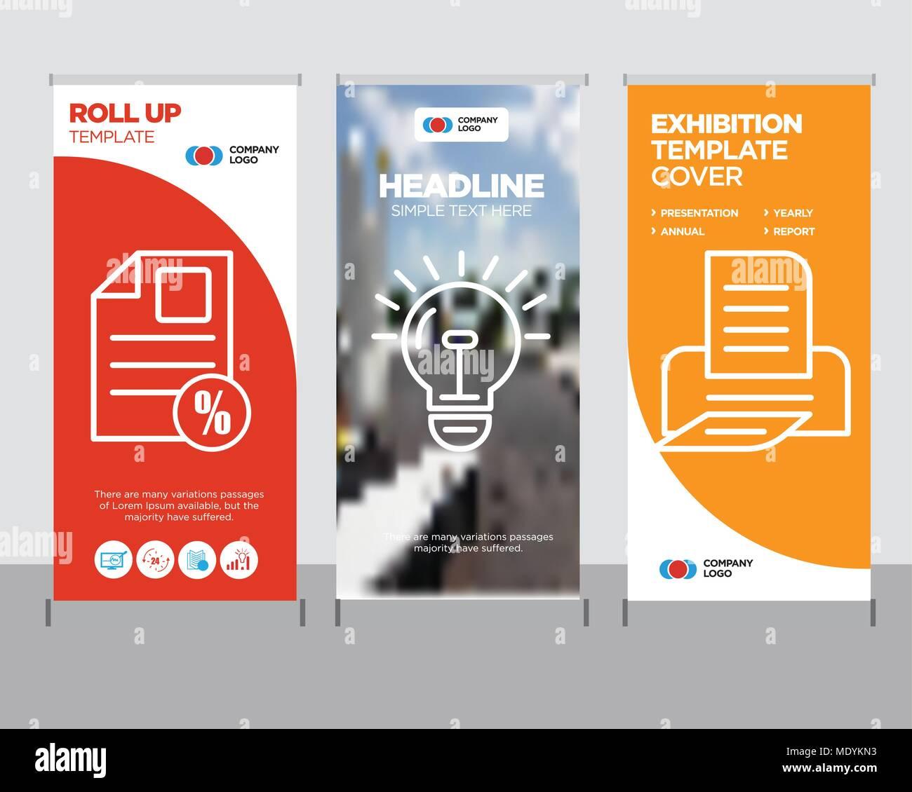 print modern business roll up banner design template, bulb creative ...
