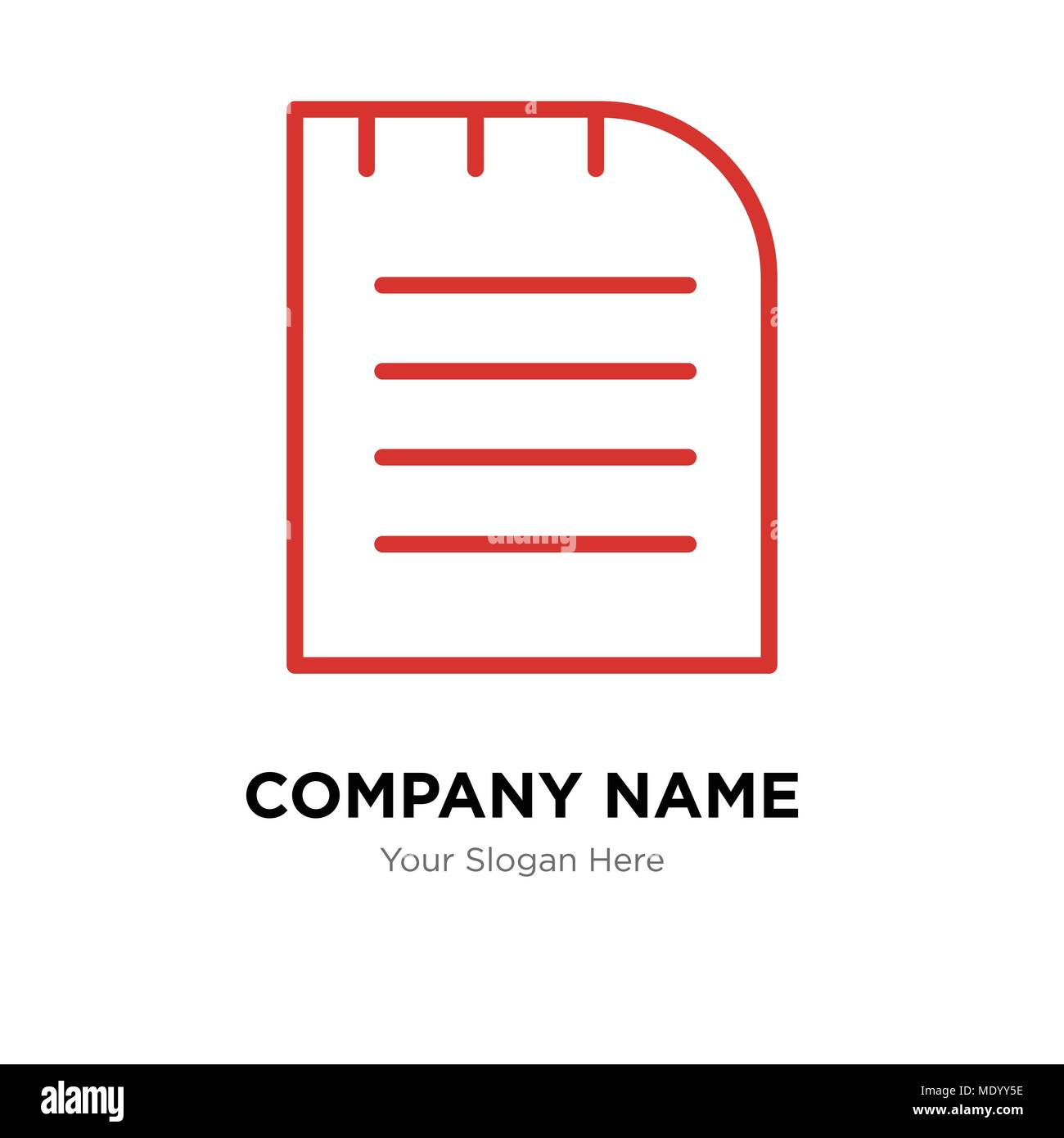 Notebook company logo design template business corporate vector notebook company logo design template business corporate vector icon maxwellsz