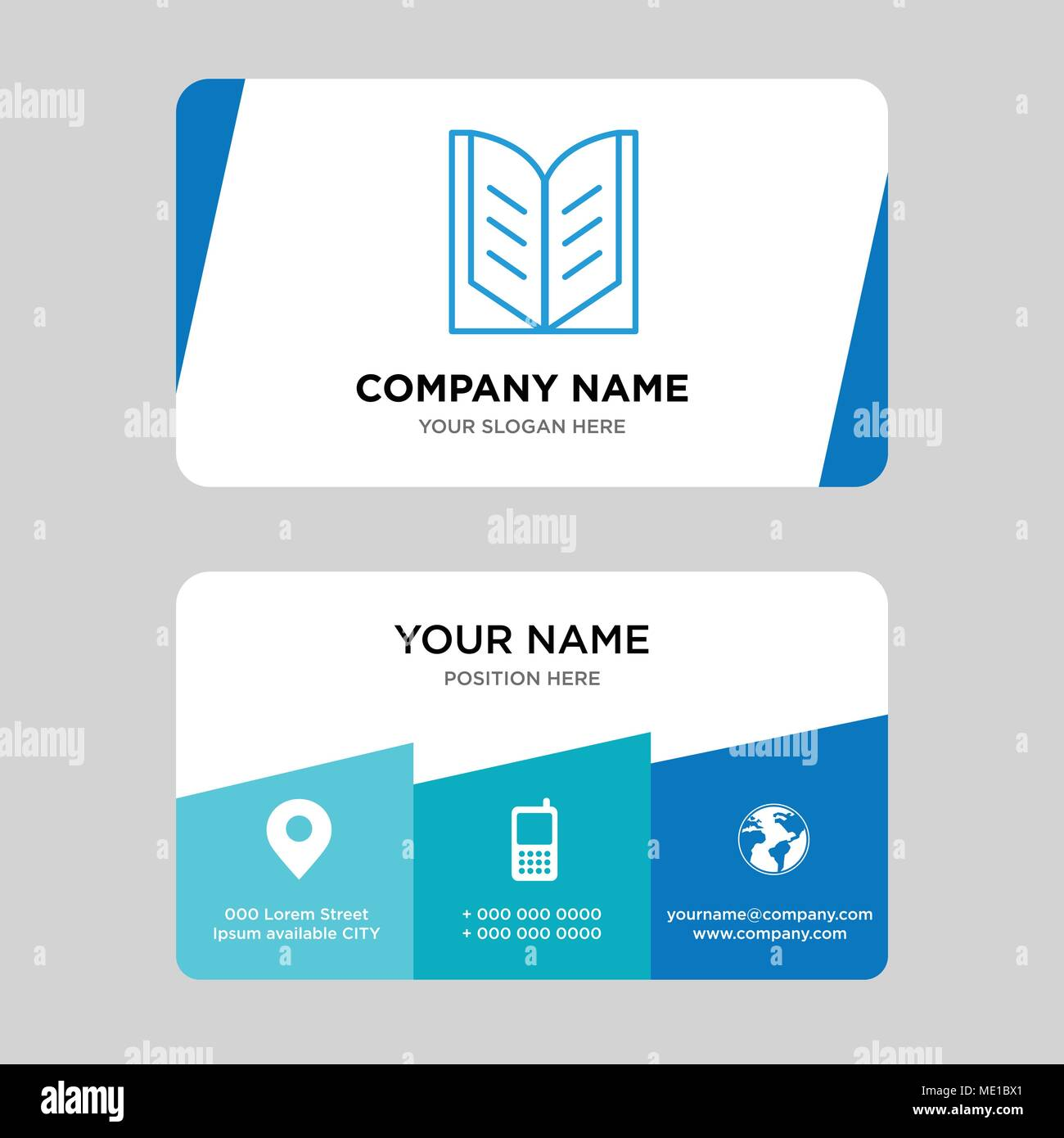 Open book business card design template, Visiting for your company ...
