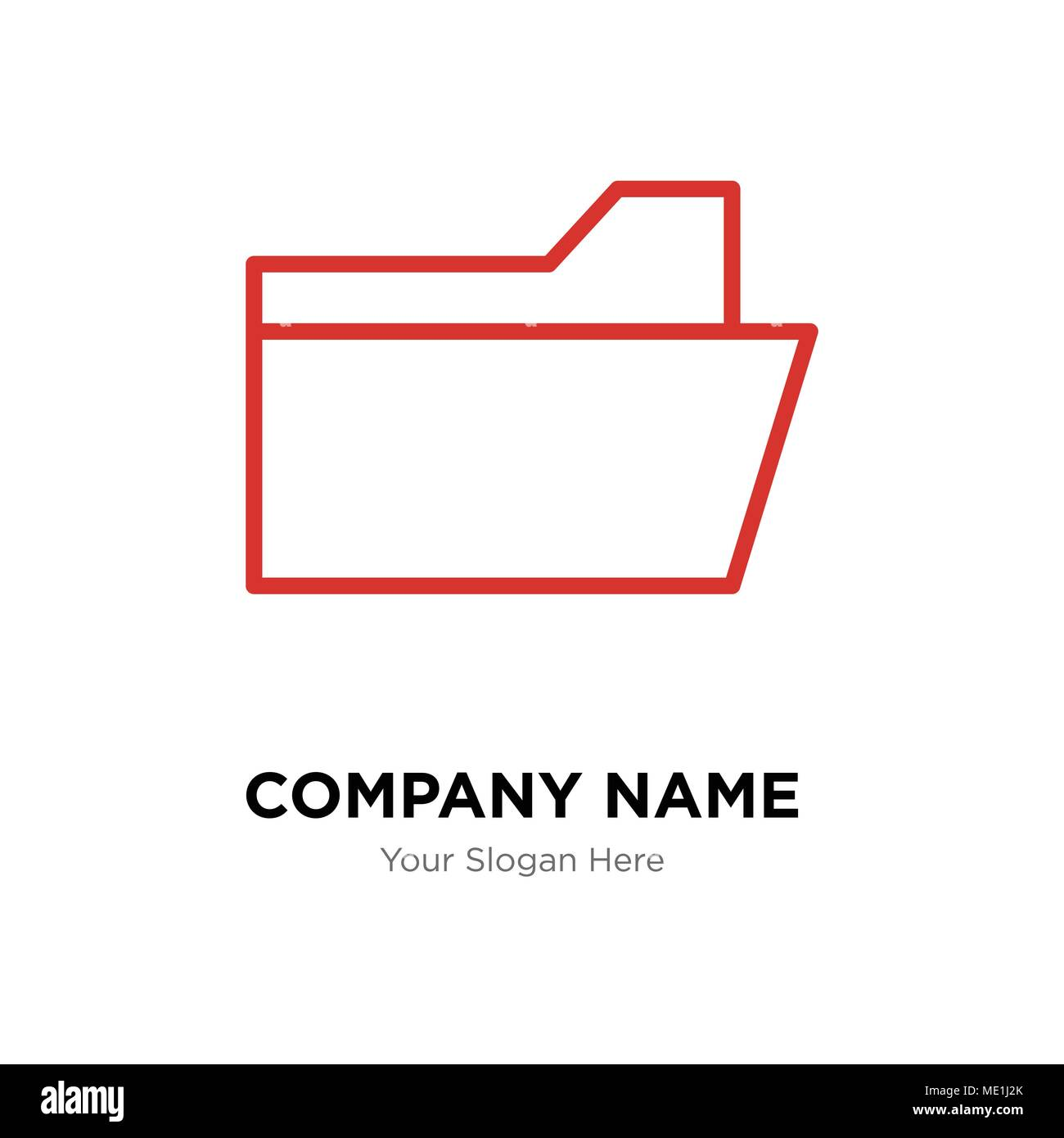File folder company logo design template business corporate vector file folder company logo design template business corporate vector icon maxwellsz