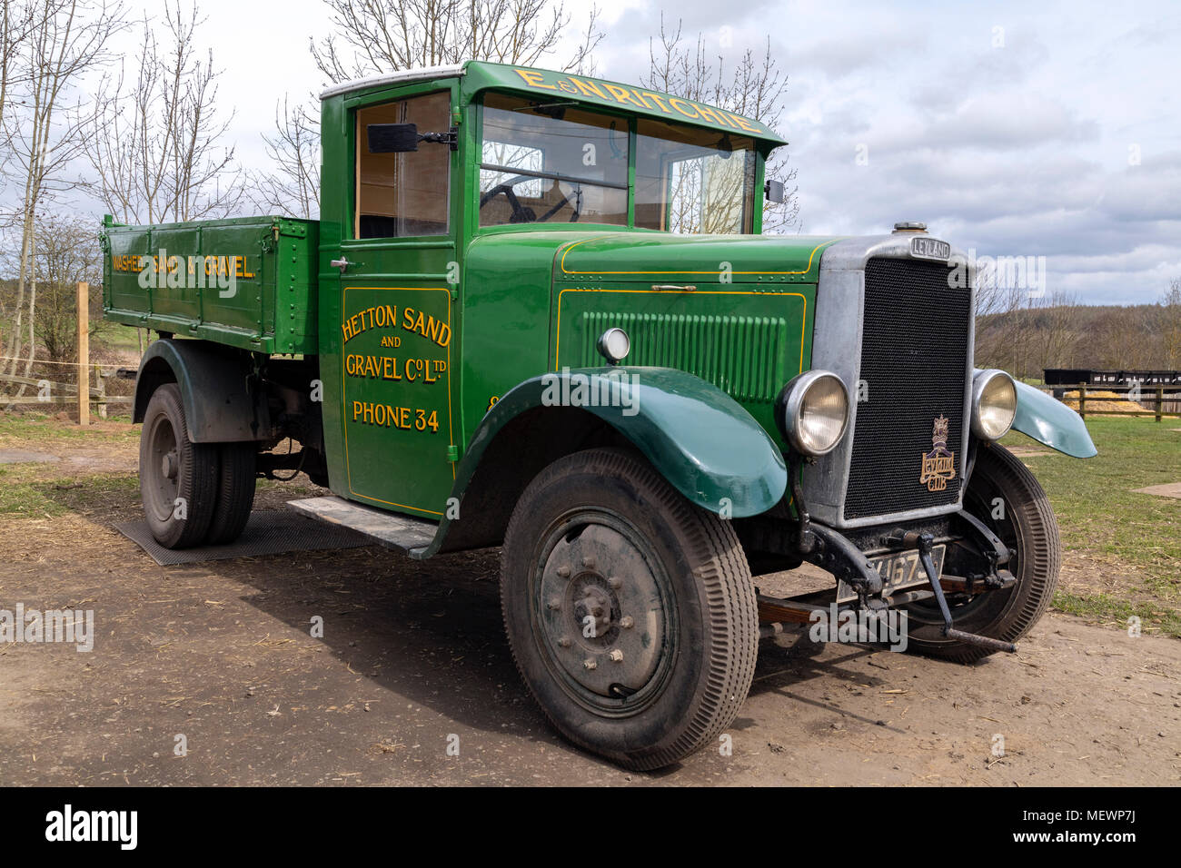 Old Layland Truck - 1920's England - Stock Image