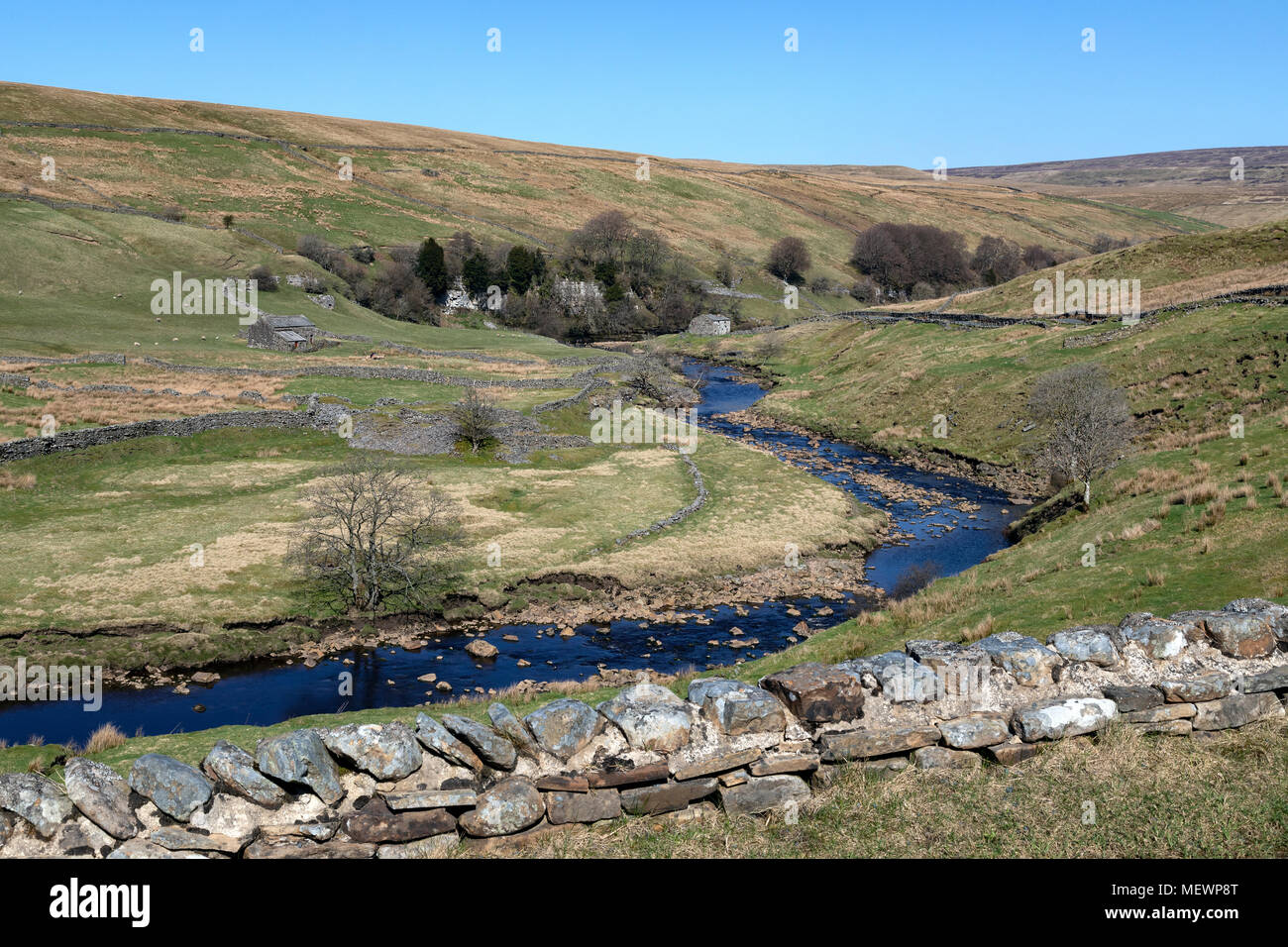 Wensleydale in the Yorkshire Dales National Park in Yorkshire, England. - Stock Image