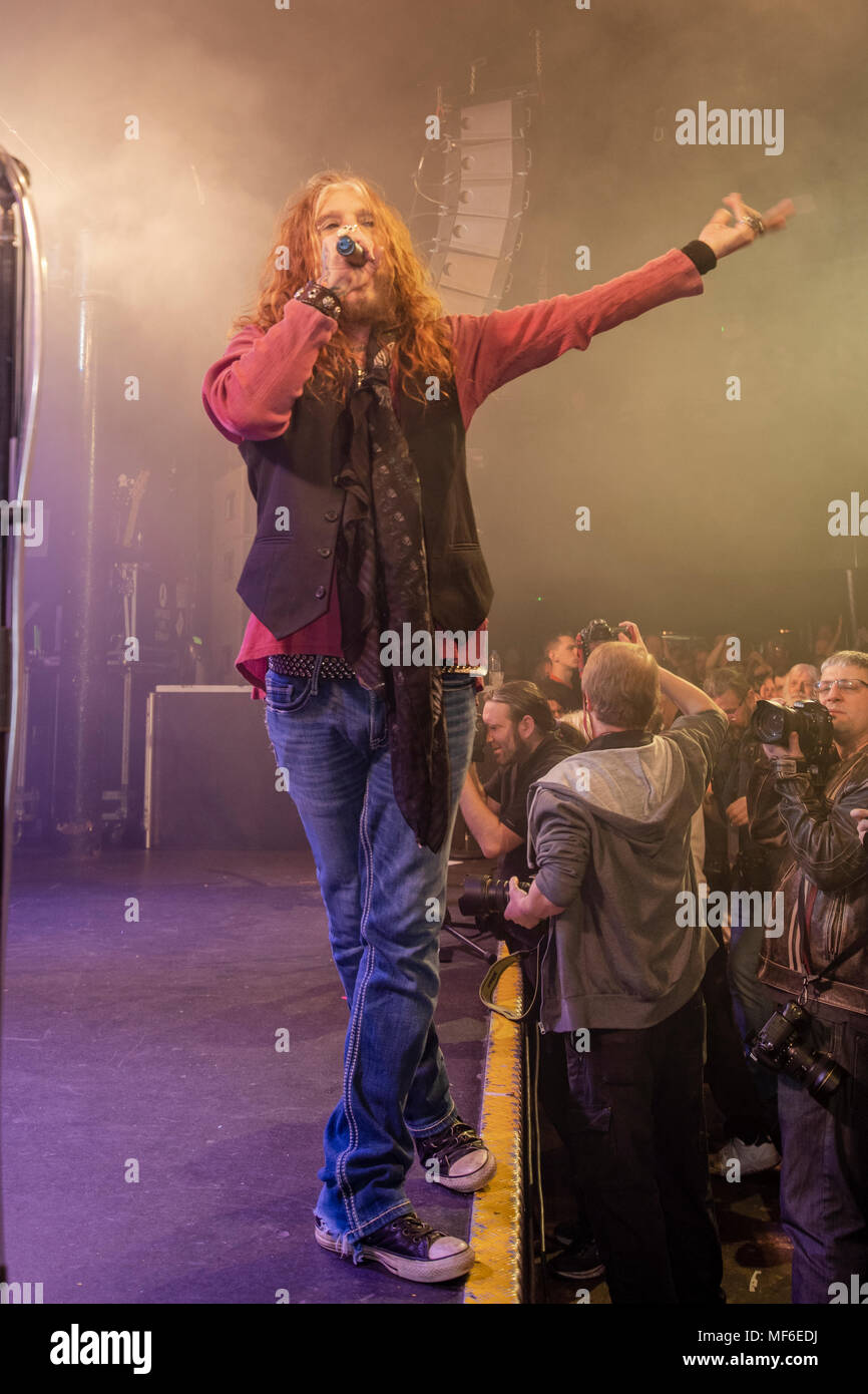 The Dead Daisies, live in concert at Rock City Nottingham April 13th 2018 with John Corabi, Doug Aldrich, Marco Mendoza David Lowy and Deen Castronova - Stock Image