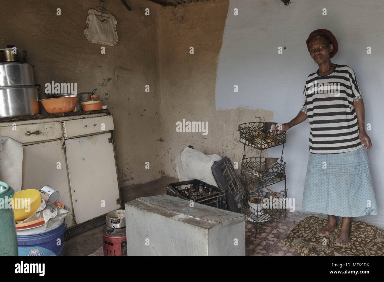 January 13 2018 Matatiele Eastern Cape South Africa Martha Wiring A House In 67 Stands The Kitchen Of Her Small Mud Credit Image Stefan Kleinowitz Via Zuma Wire