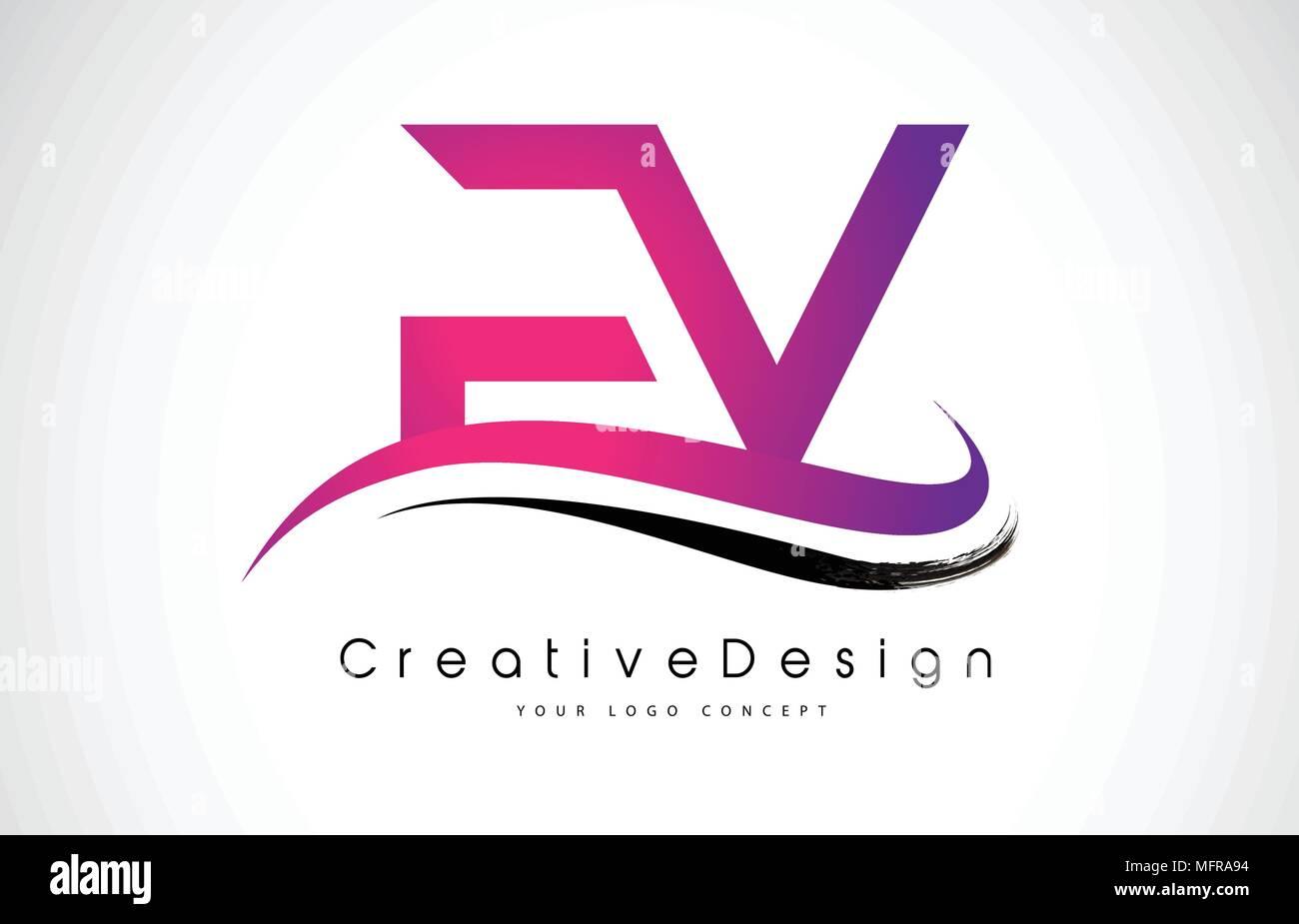 FV F V Letter Logo Design in Black Colors. Creative Modern Letters ...