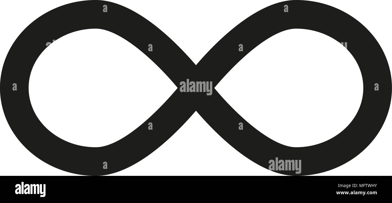 Infinity Symbol Icons Vector Illustration Unlimited Limitless