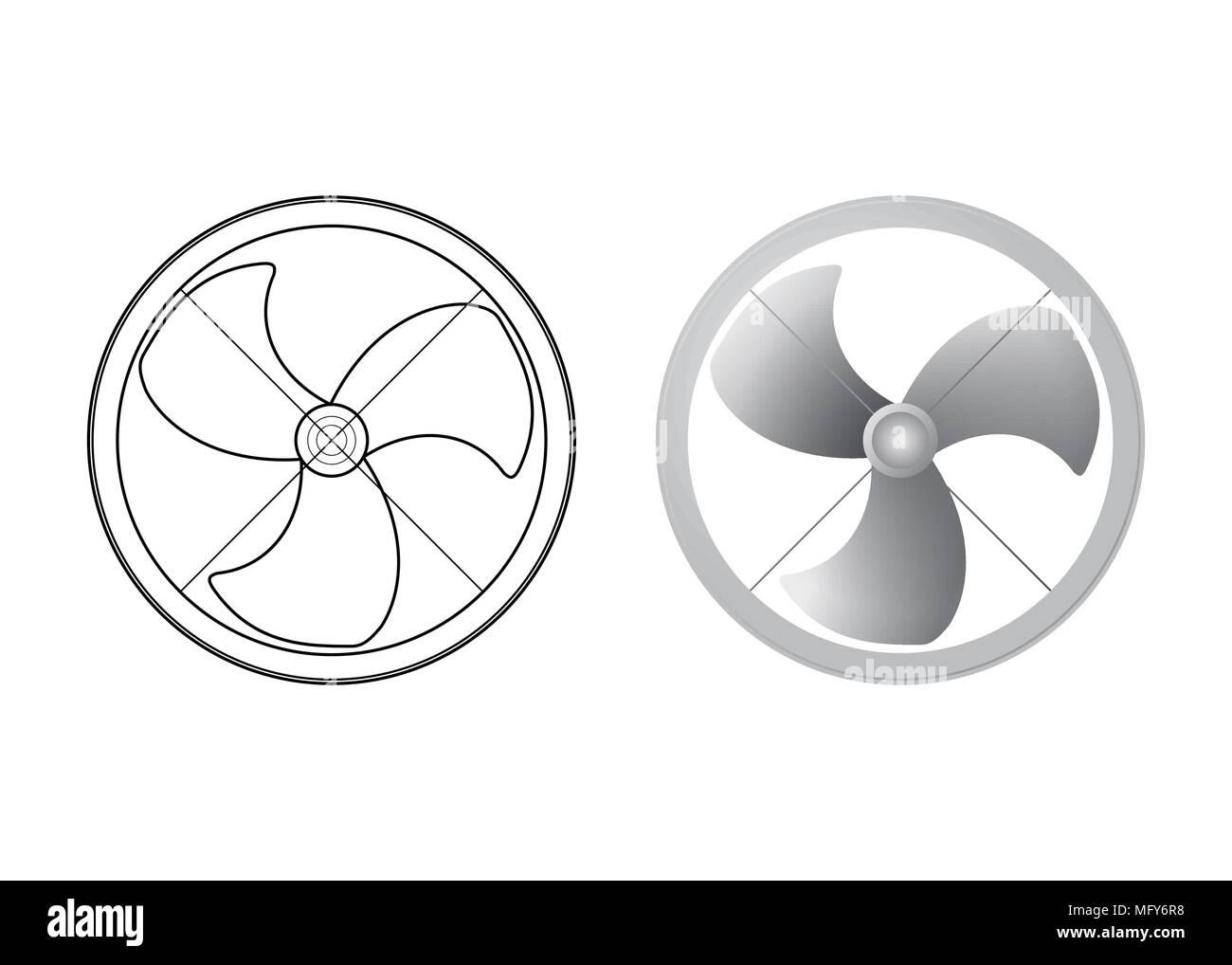 Axial Flow Fan Stock Vector Art Illustration Vector Image