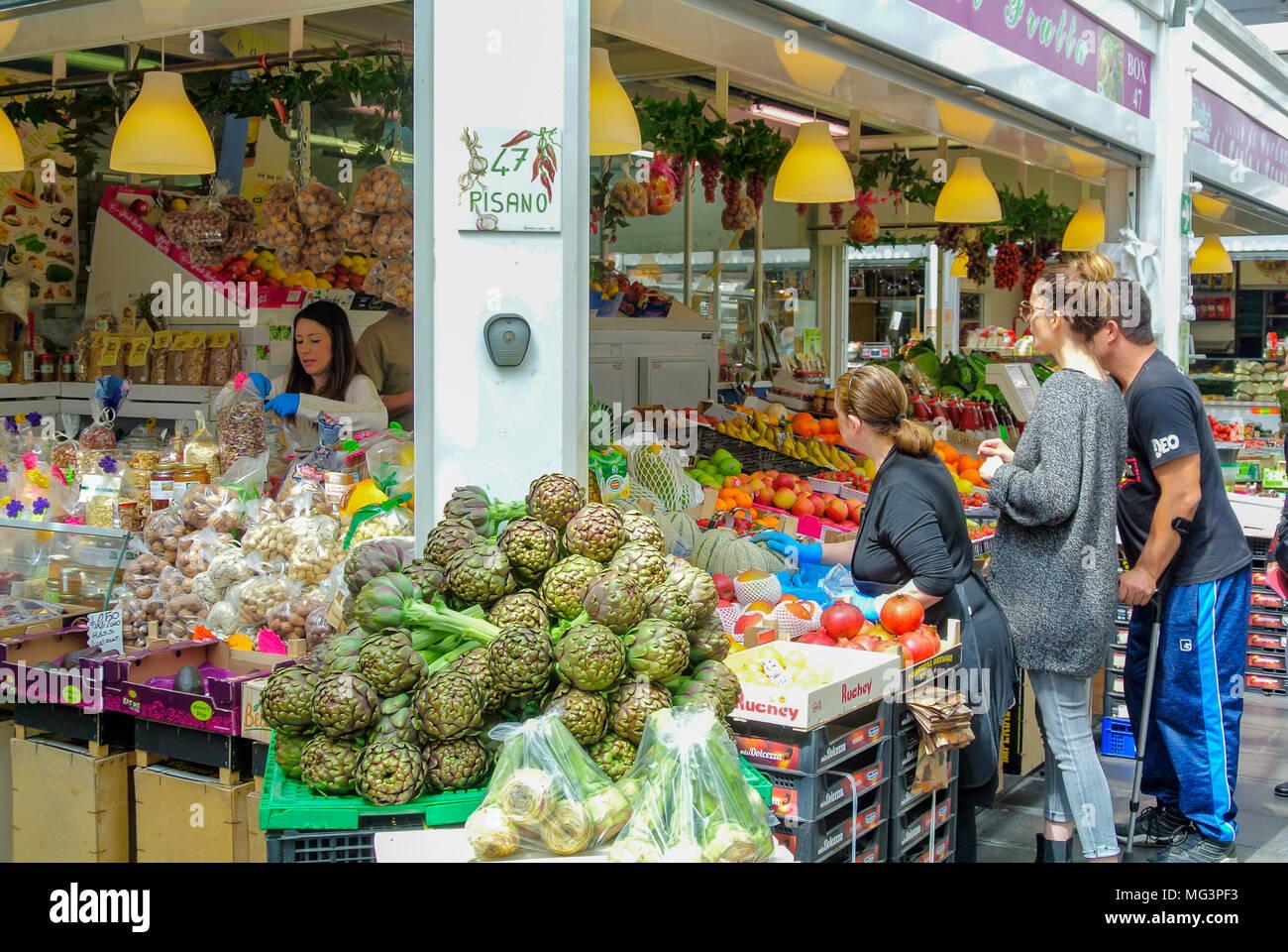 Nuovo Mercato di Testaccio, rome, italy Stock Photo