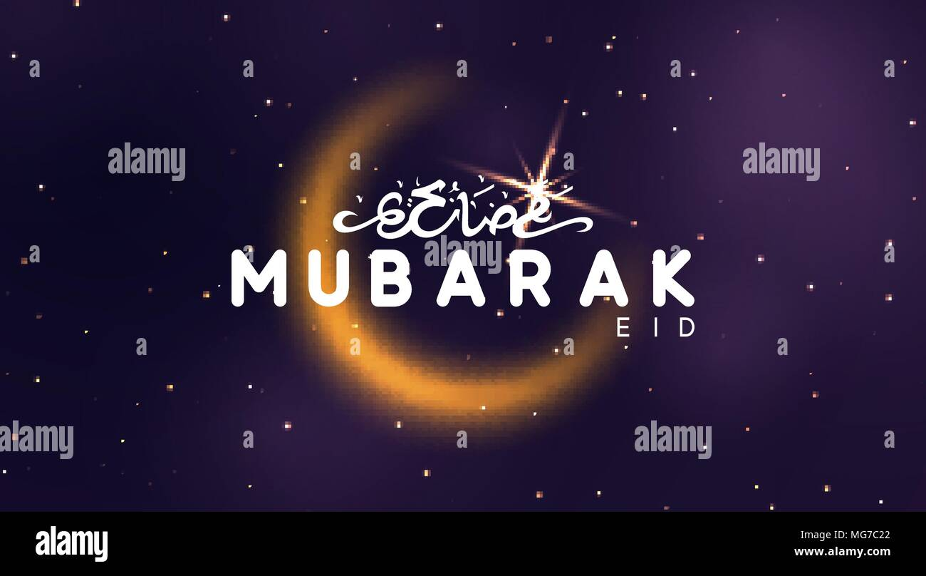Eid mubarak vector background arabic calligraphic text of ramadan eid mubarak vector background arabic calligraphic text of ramadan kareem night view starry sky bright moon light half a month m4hsunfo