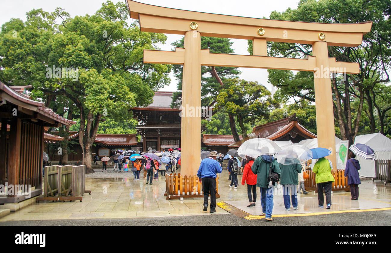 Meiji Shrine, Tokyo, Japan - Stock Image