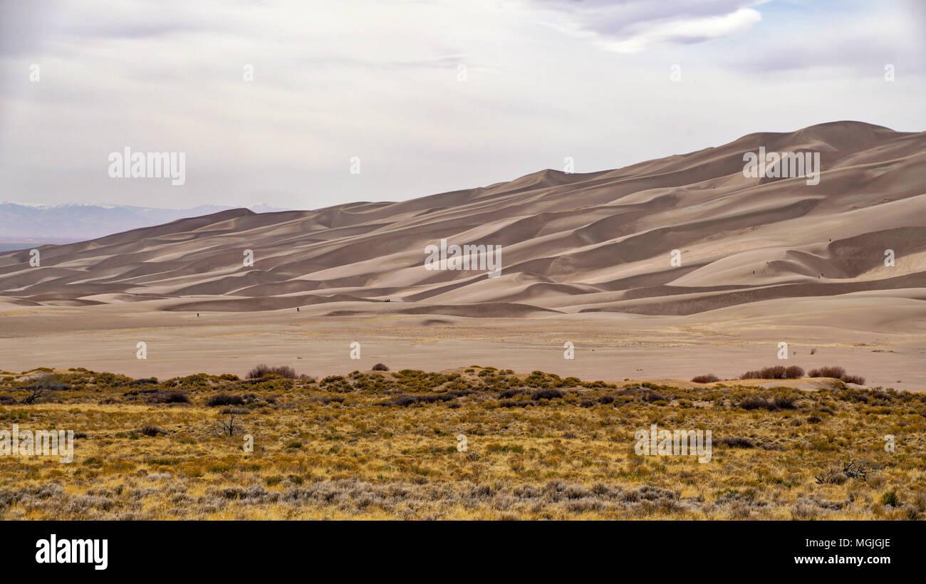 Great Sand Dunes National Park; Colorado; USA; early spring - Stock Image