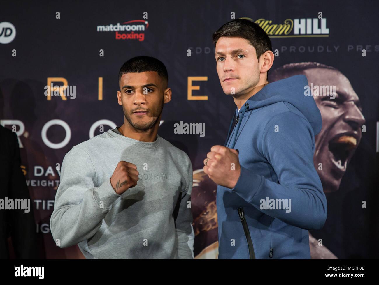 Gamal Yafai v Gavin McDonnell boxing face off at press conference - Stock Image