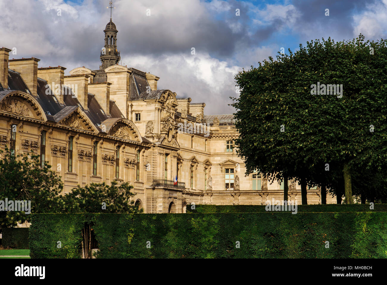 louvre palace and tuileries garden view - Tuileries Garden