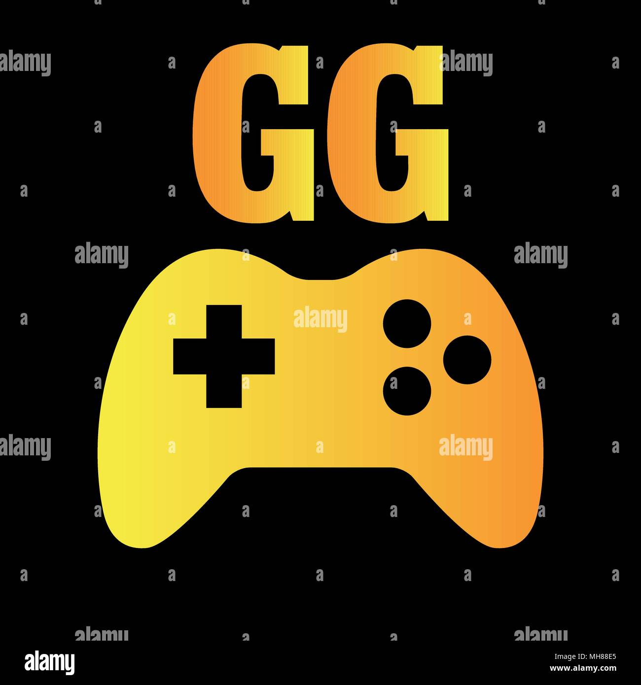 vector t shirt design for gamers with word gg it is the