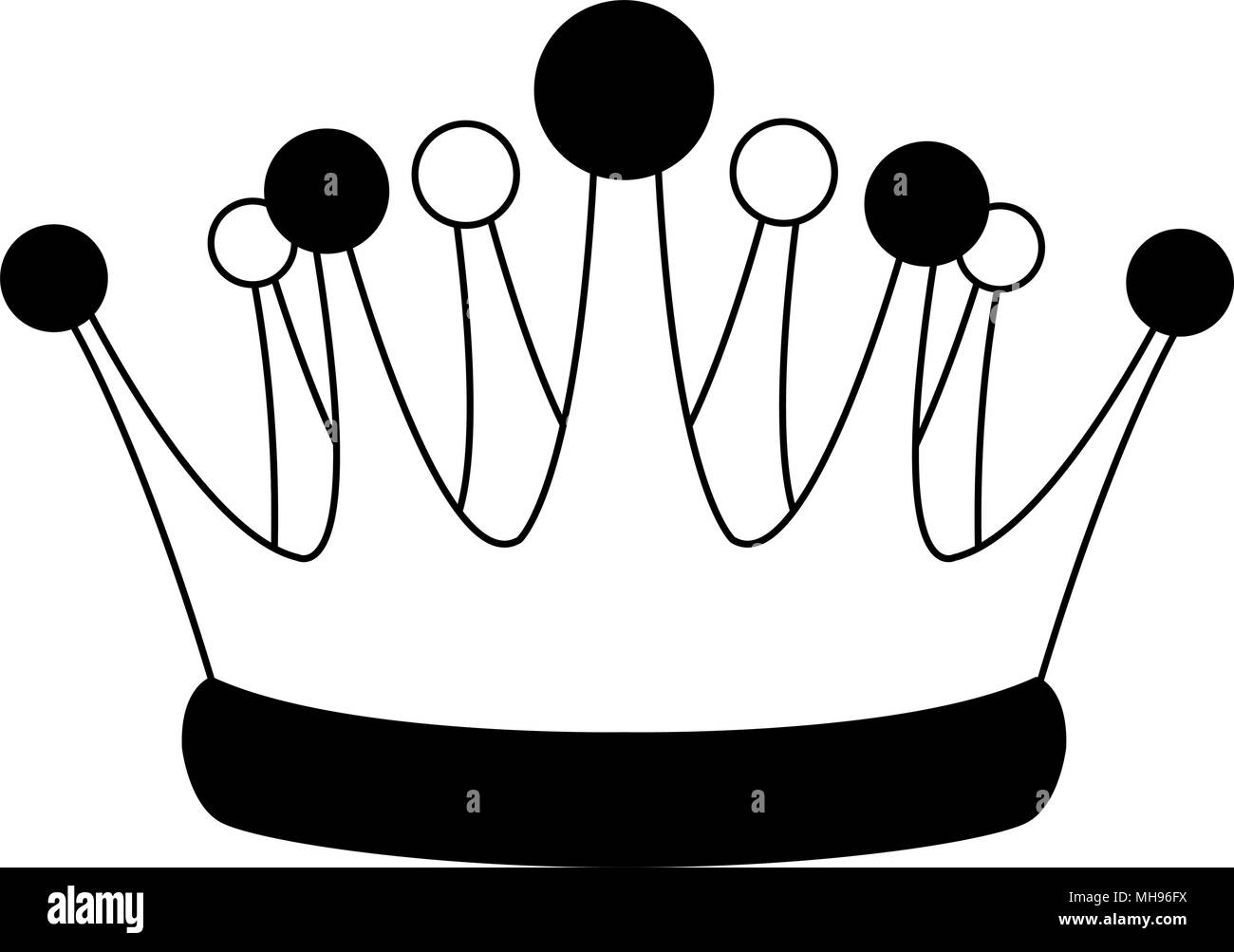 King Crown Symbol On Black And White Colors Stock Vector Art
