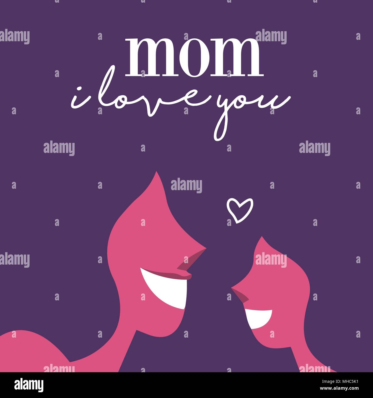 Mothers day greeting card with mom love typography quote and happy mothers day greeting card with mom love typography quote and happy daughter smiling eps10 vector m4hsunfo