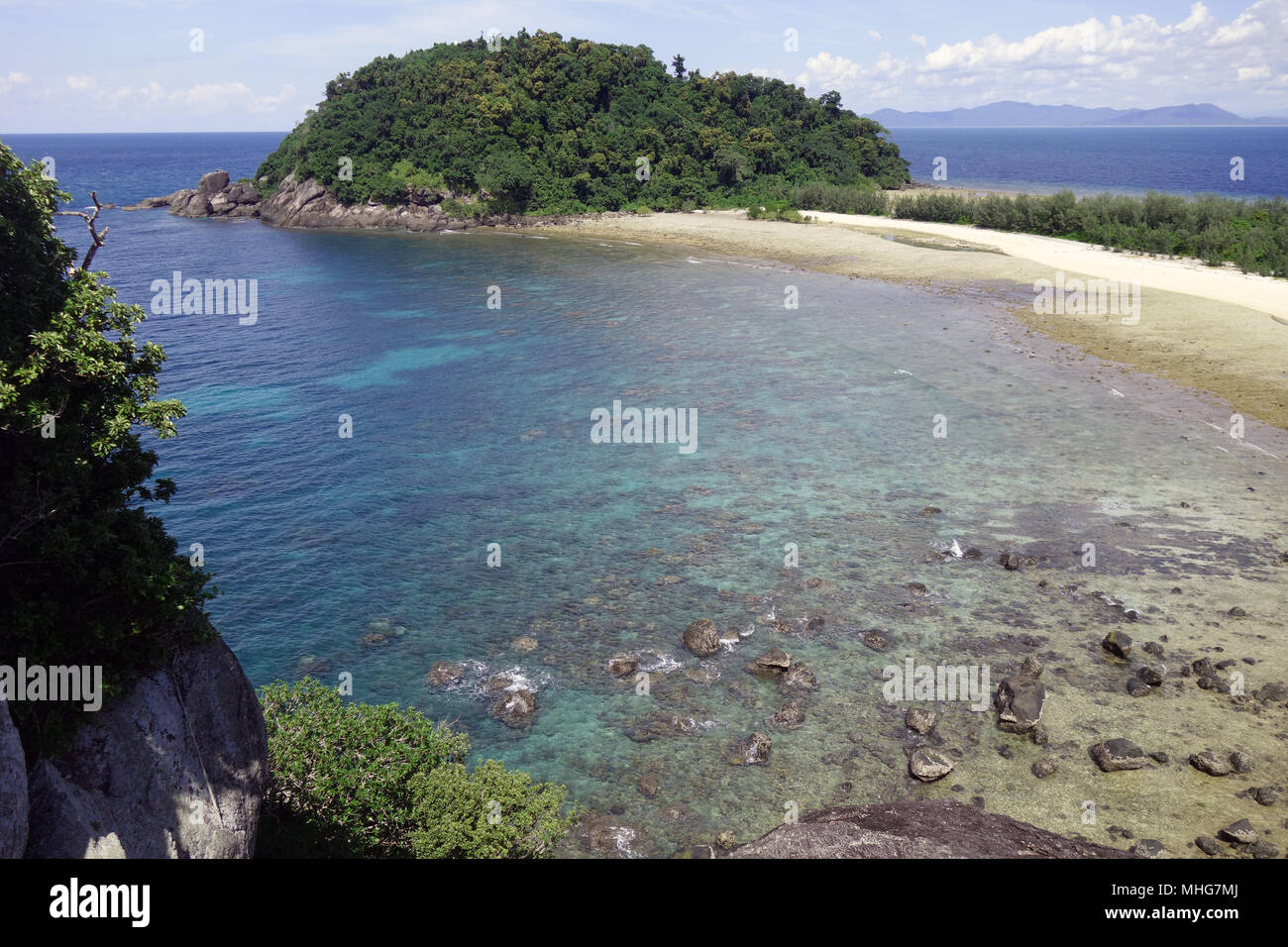 Russell Island, Great Barrier Reef Marine Park, Queensland, Australia Stock Photo