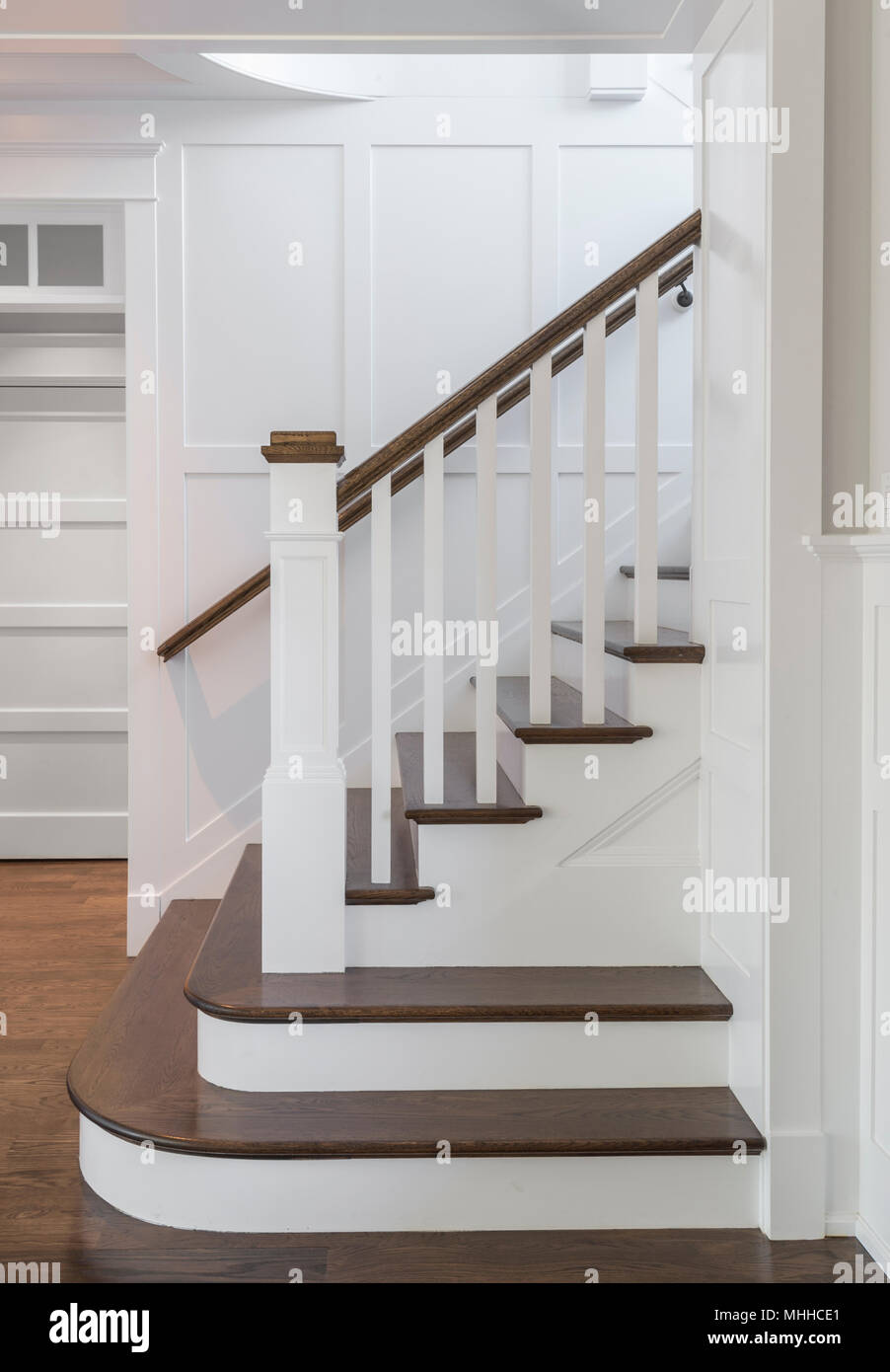 Staircase Steps Side View - Stock Image