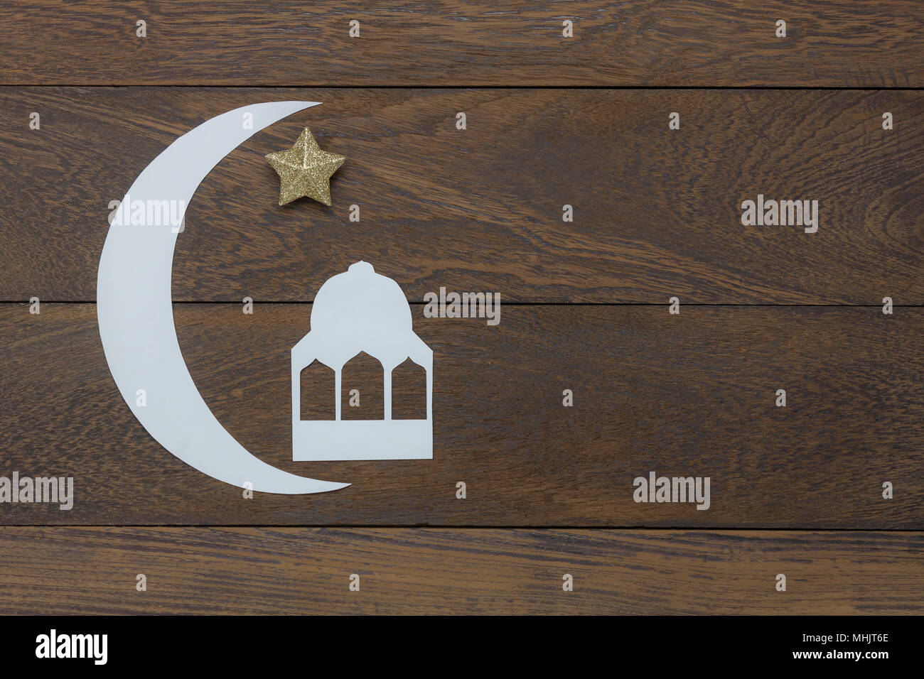 Best Moon Star Light Eid Al-Fitr Decorations - table-top-view-aerial-image-of-decorations-ramadan-kareem-holiday-backgroundflat-lay-paper-cute-the-white-moon-gold-star-with-islamic-castleobject-MHJT6E  Trends_903728 .jpg