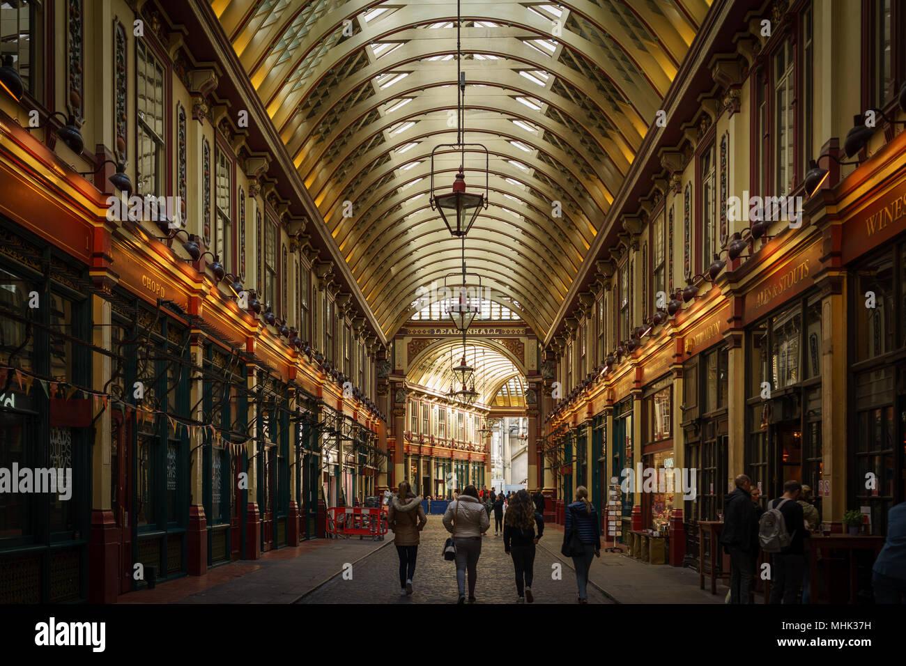 London (UK), September 2017. Leadenhall Market. Landscape format. - Stock Image