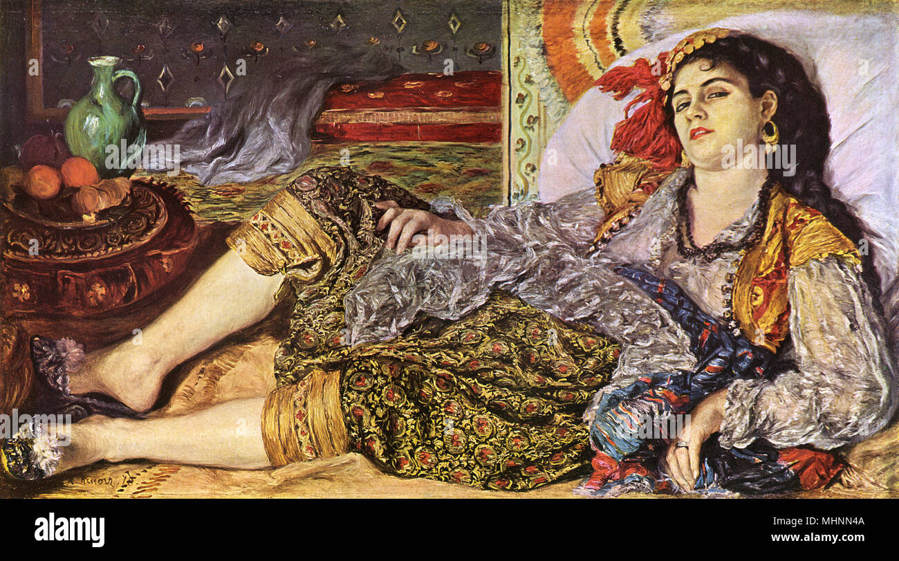 Paintings grande odalisque and resting girl
