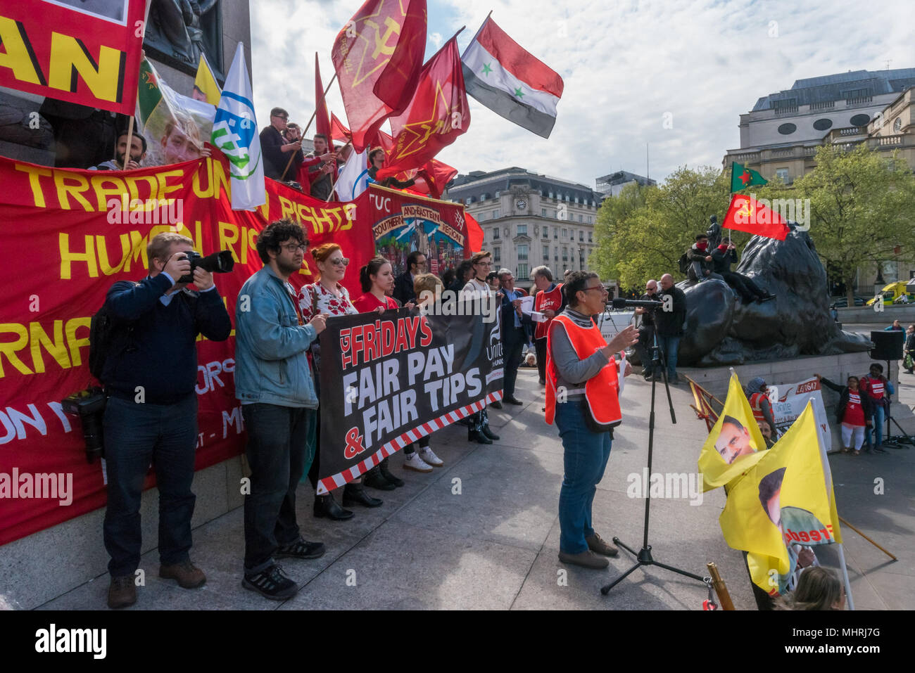 May 1, 2018 - London, UK. 1st May 2018. Eva Turner, GLATUC, rally ...
