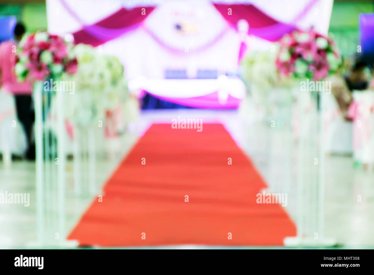 Blur Beautiful Flowers Background For Wedding Scenehappy Outdoor