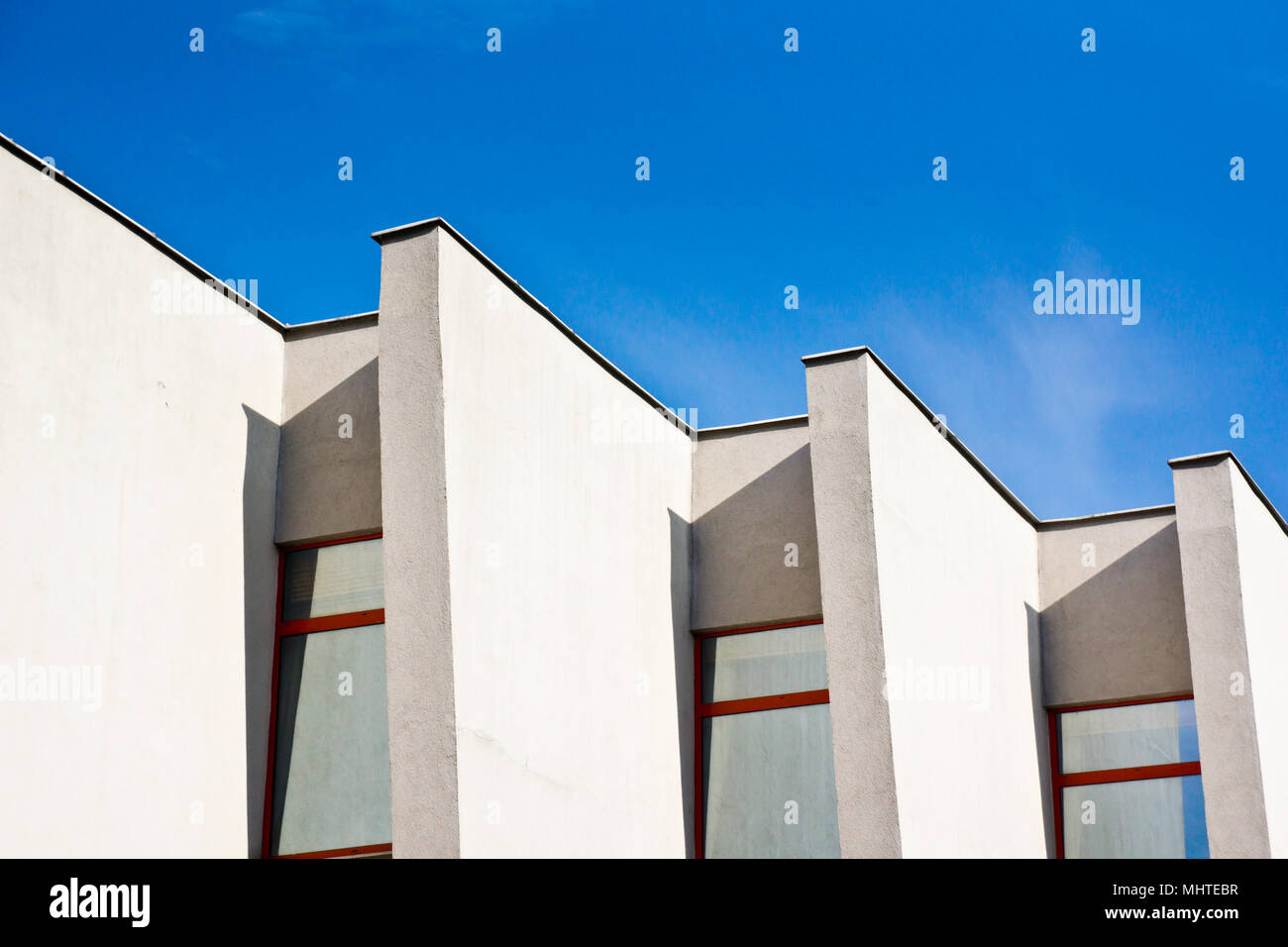 angular pattern of a building - Stock Image