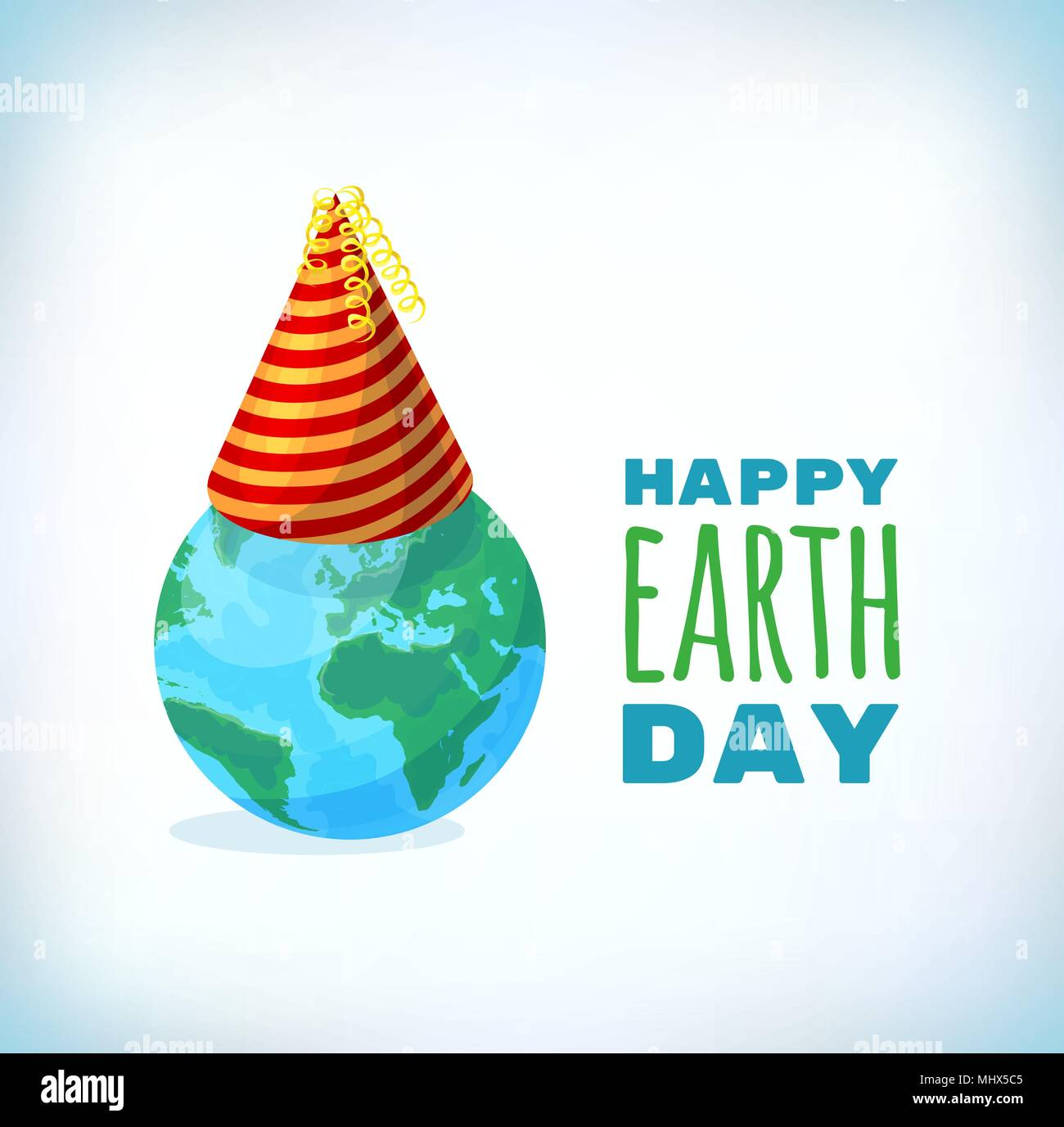 Happy Earth Day card, background. Vector illustration for banner and poster. Element for design cards and invtions. Symbol for gift cards and flyers. Emblem for brochures - Stock Image
