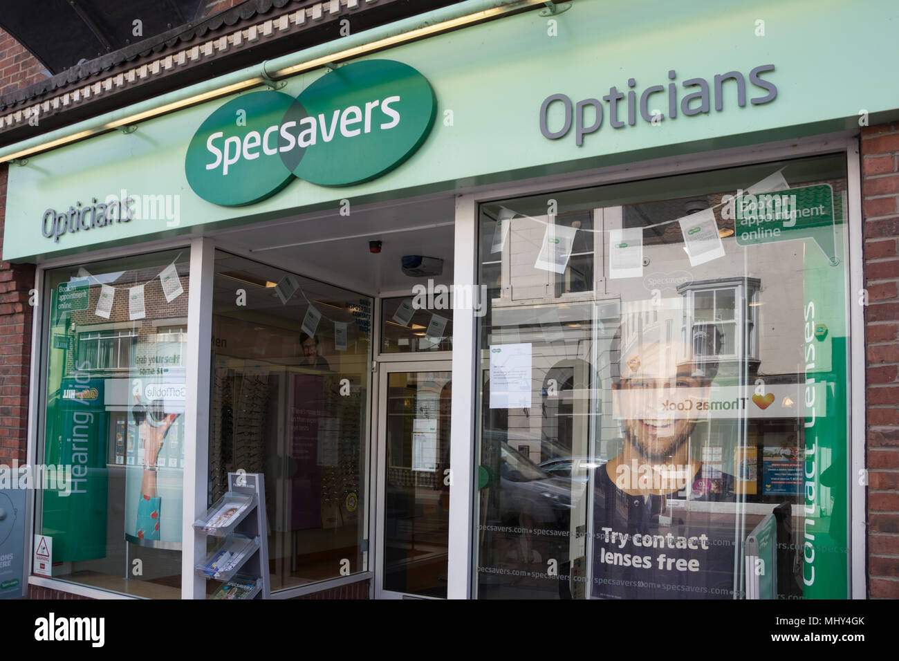 c4a027c34 Specsavers opticians shop in Driffield, East Yorkshire Stock Photo ...