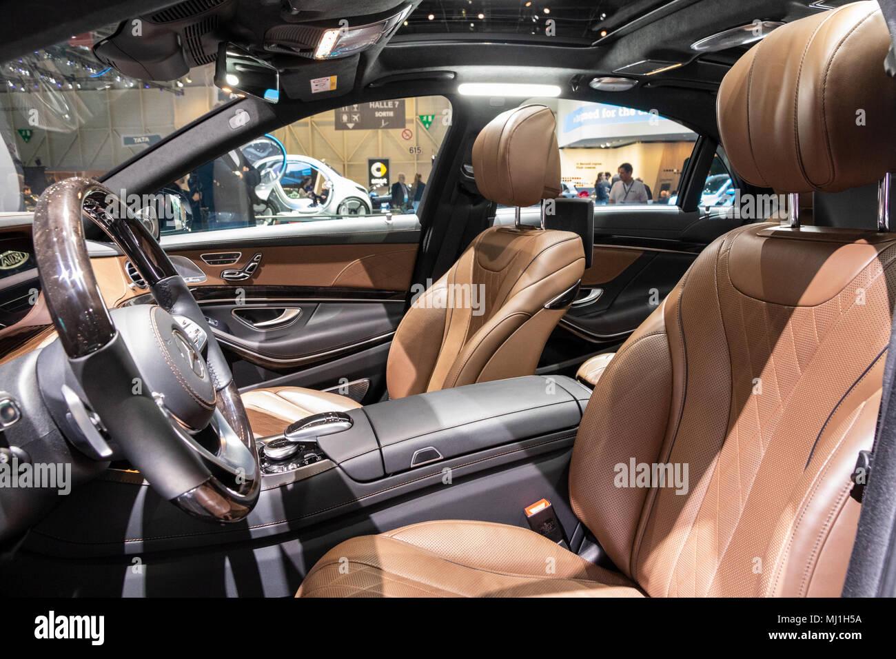 Geneva Switzerland March 7 2018 New 2018 Mercedes Benz S Class