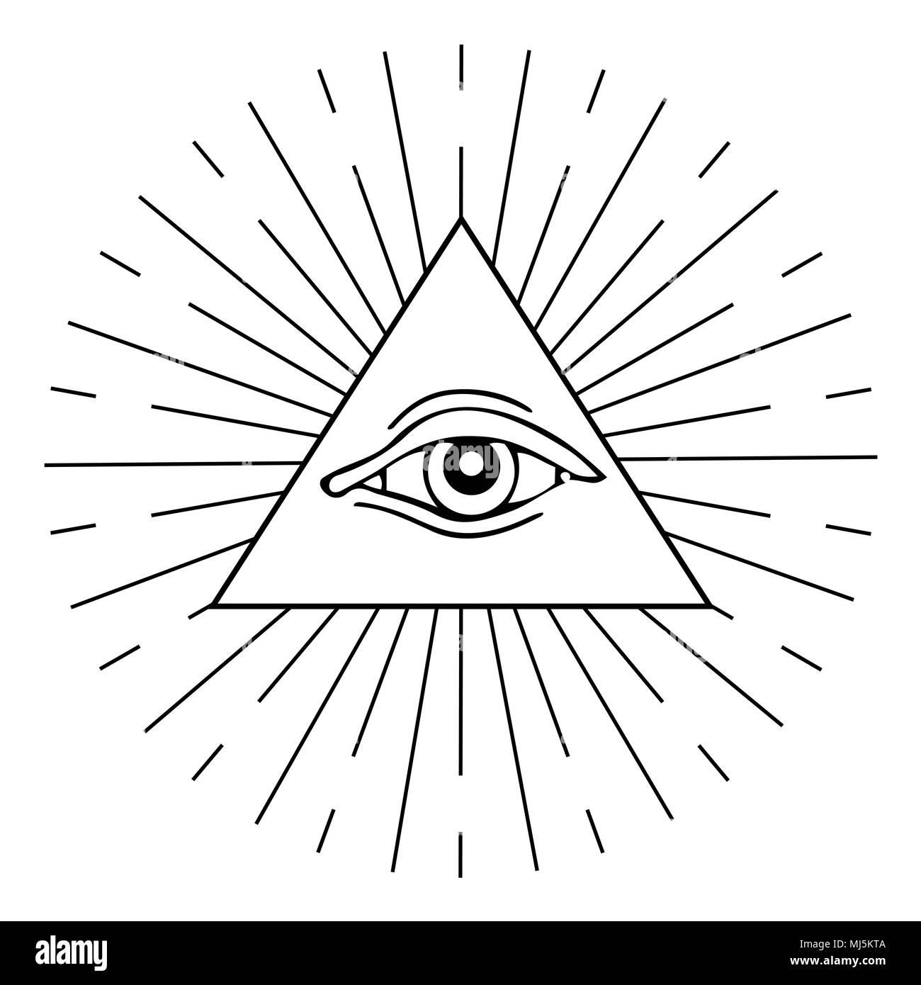 Eye Of Providence Masonic And Esoteric Symbol Stock Vector Art