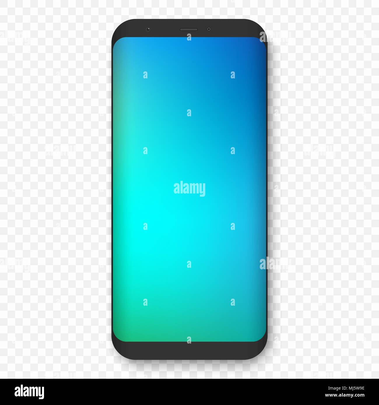 vector mobile template with colored wallpaper. realistic high