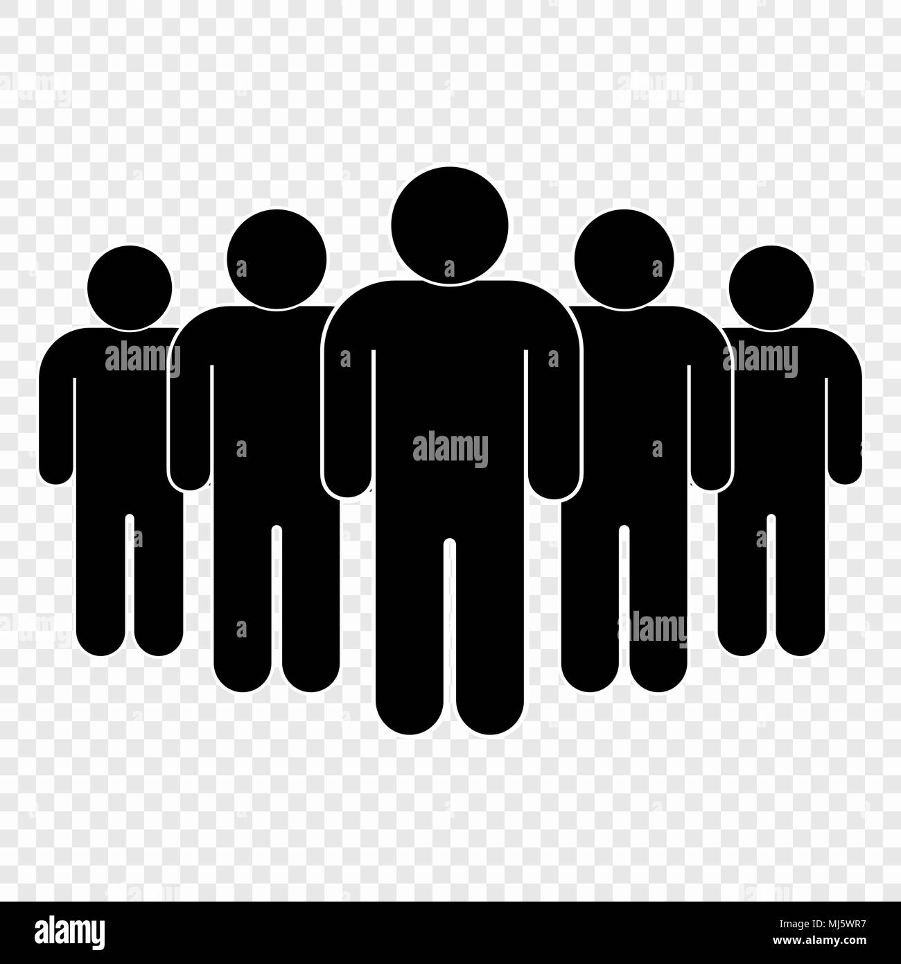 0592433a1aa19 People icon on transparent background. Person symbol Stock Vector ...