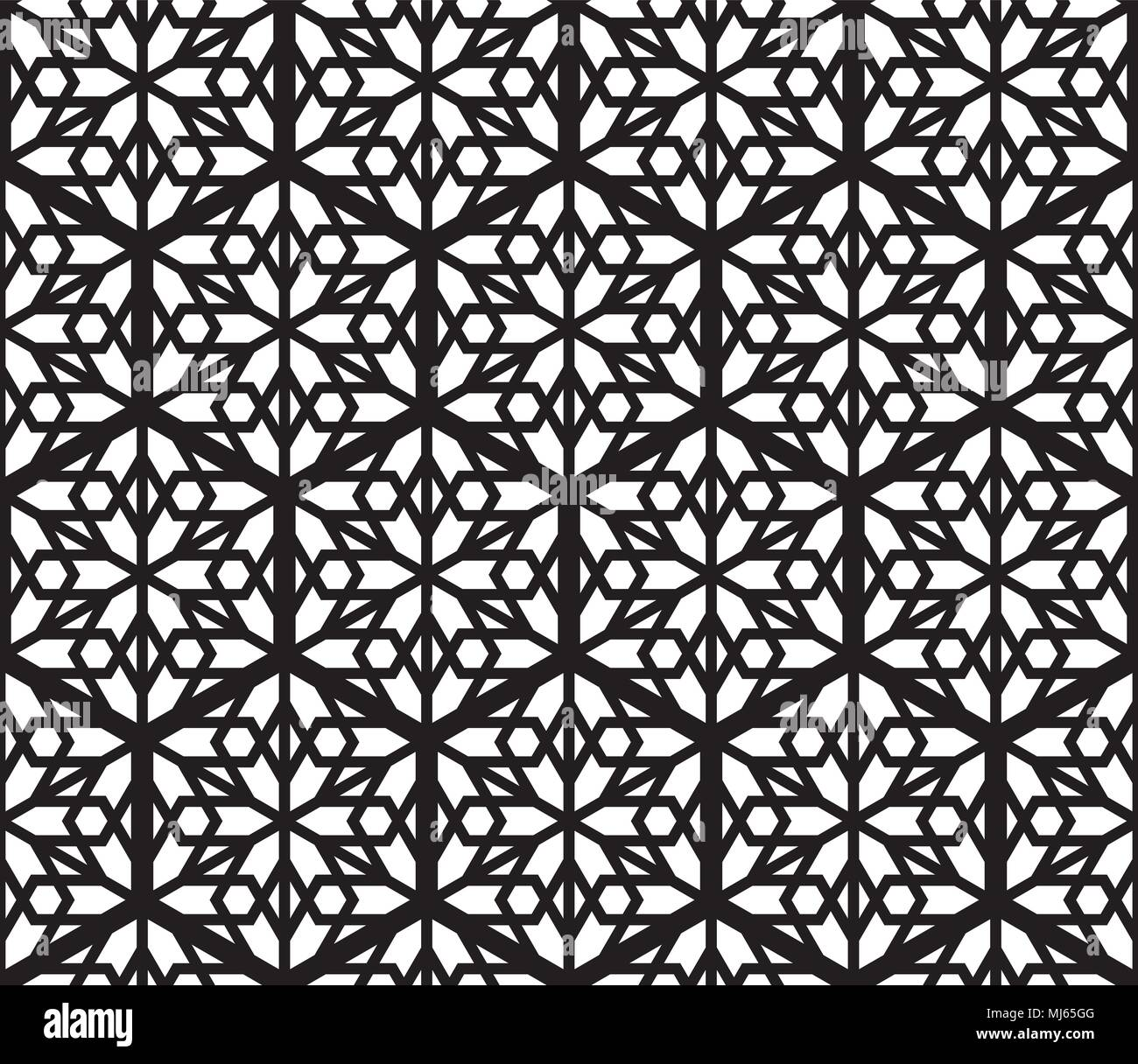 Seamless geometric pattern based on traditional Japanese Kumiko ...