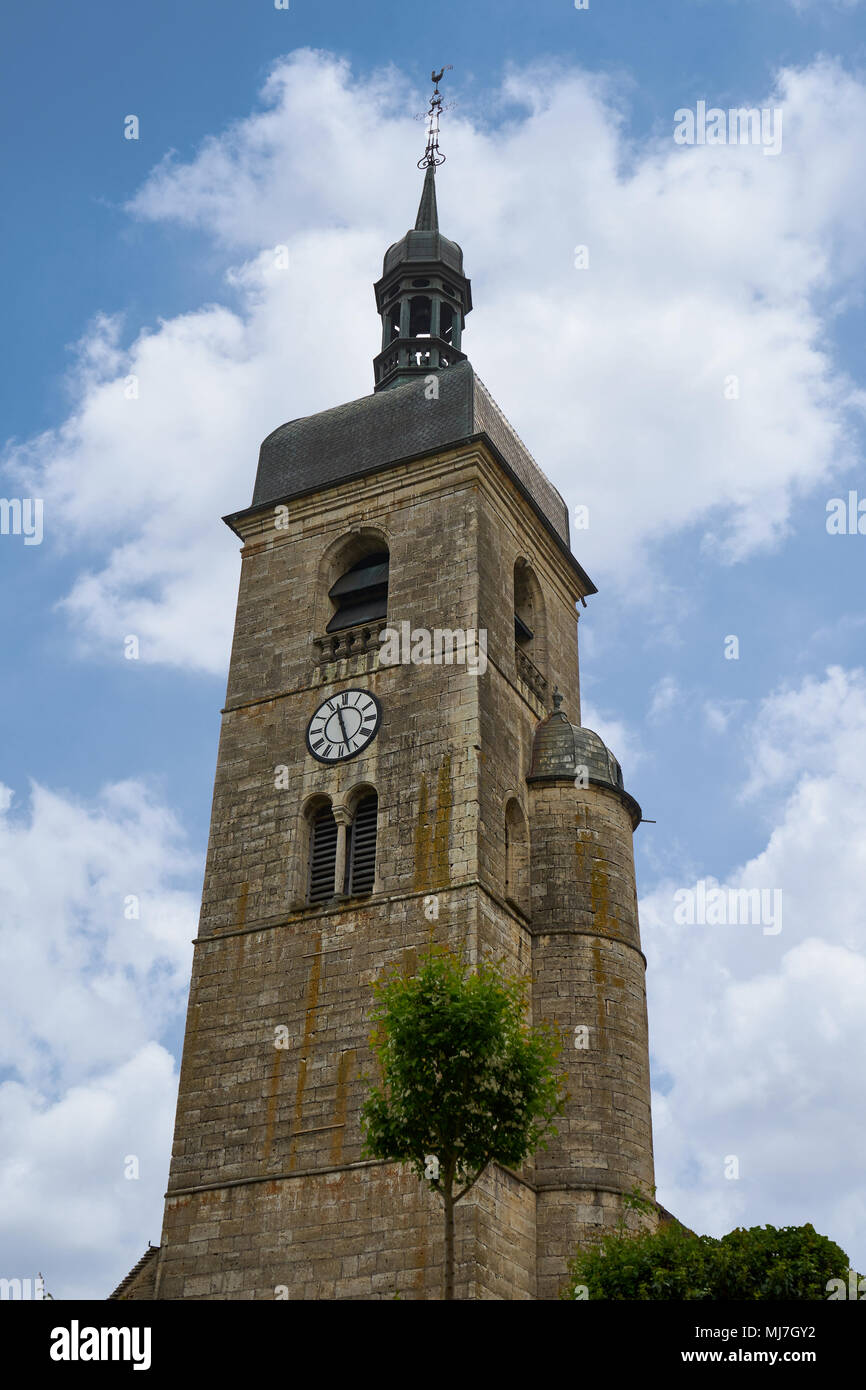 Eglise Saint Laurent Ornans Doubs France - Stock Image