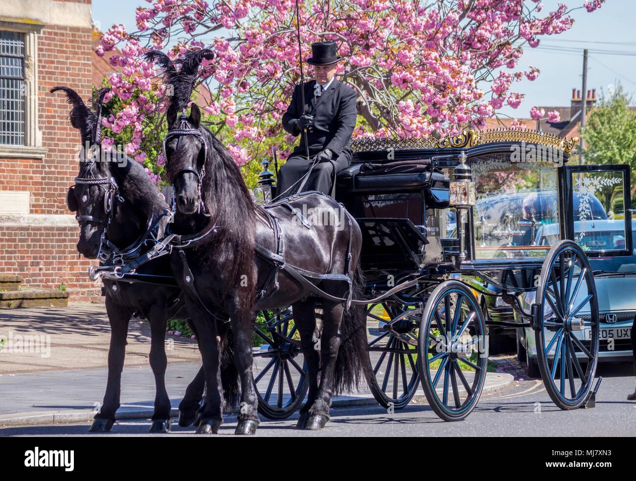 a-horse-drawn-hearse-outside-frinton-free-church-by-william-hayne-1911-1935-italianate-style-connaught-avenue-frinton-on-sea-essex-england-MJ7XN3.jpg