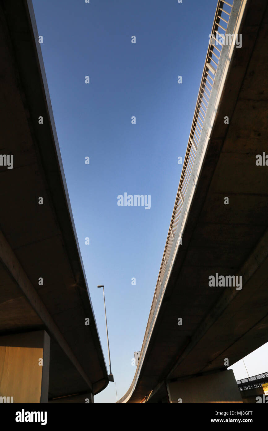 View Under Flyover at Athens Airport Greece - Stock Image