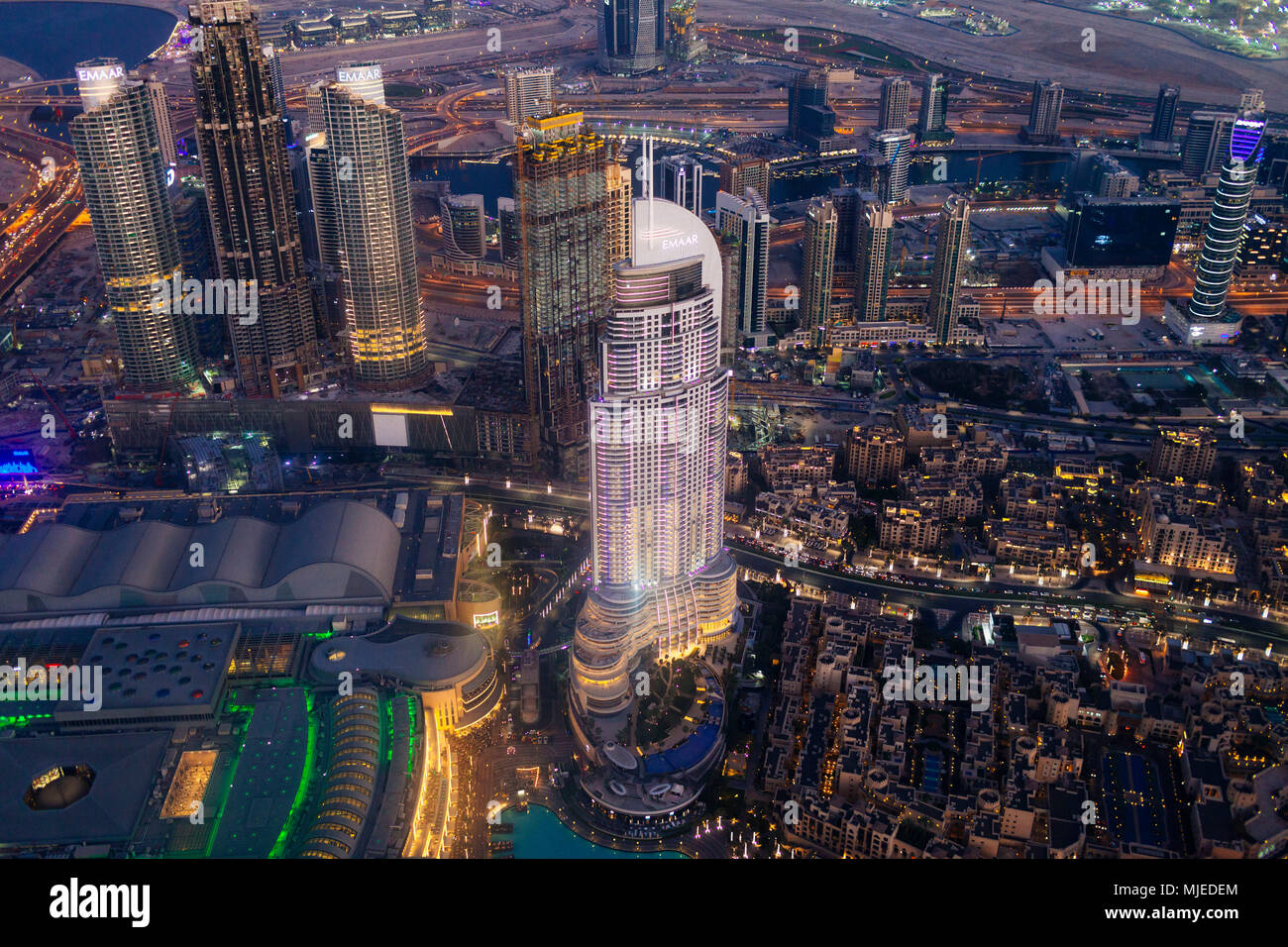 Dubai from above - Stock Image
